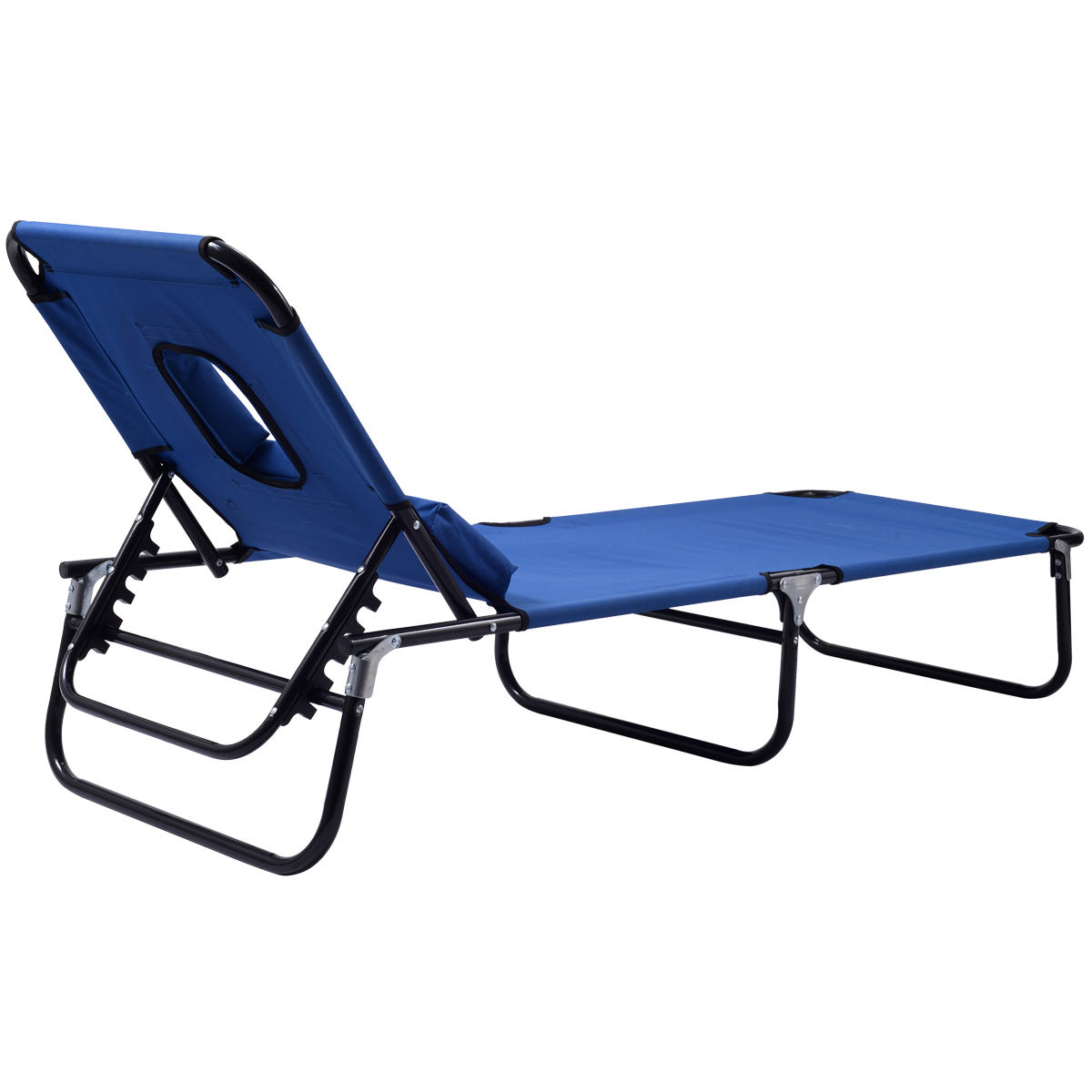 Preferred Foldable Camping And Lounge Chairs Intended For Costway Patio Foldable Chaise Lounge Chair Bed Outdoor Beach Camping  Recliner Pool Yard (View 20 of 25)