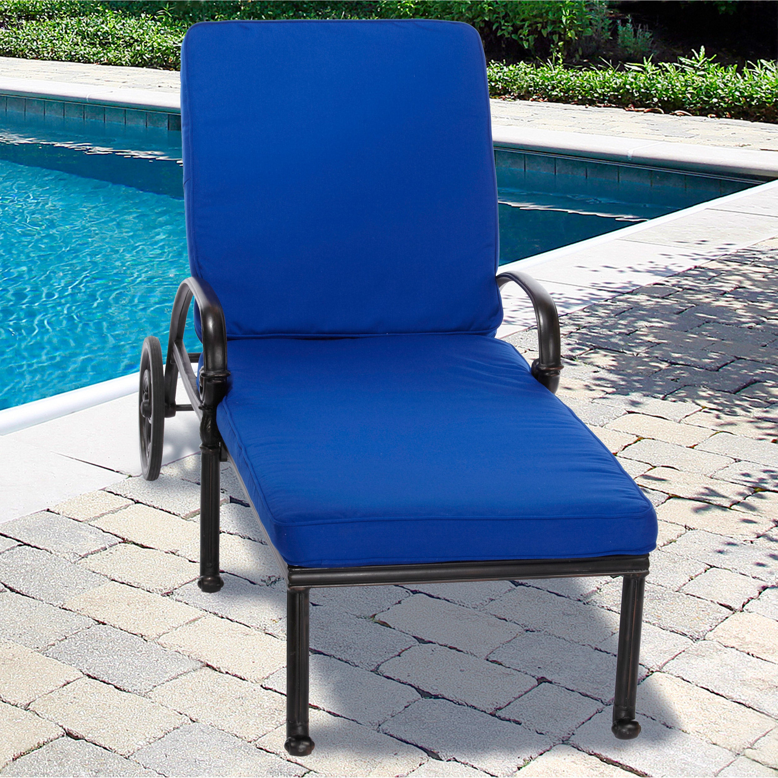 """Preferred Indoor Outdoor Textured Bright Chaise Lounges With Sunbrella Fabric For Indoor/ Outdoor 25"""" Wide Chaise Lounge Cushion With Sunbrella Fabric Solid  Bright (Gallery 2 of 25)"""