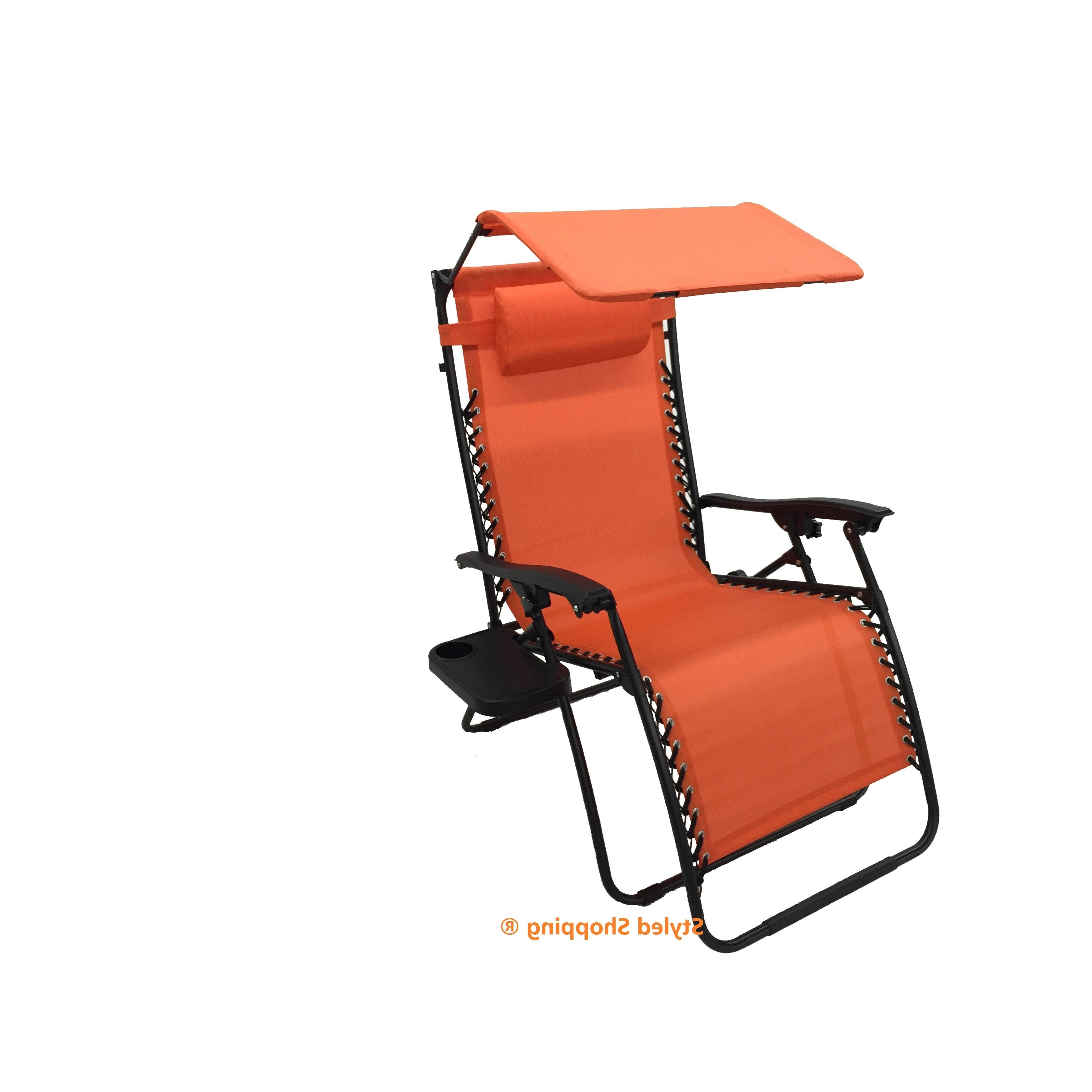 Preferred Mesh Fabric With Steel Frame Zero Gravity Chair With Canopy And Tray Regarding Oversized Extra Large Chairs With Canopy And Tray (View 21 of 25)