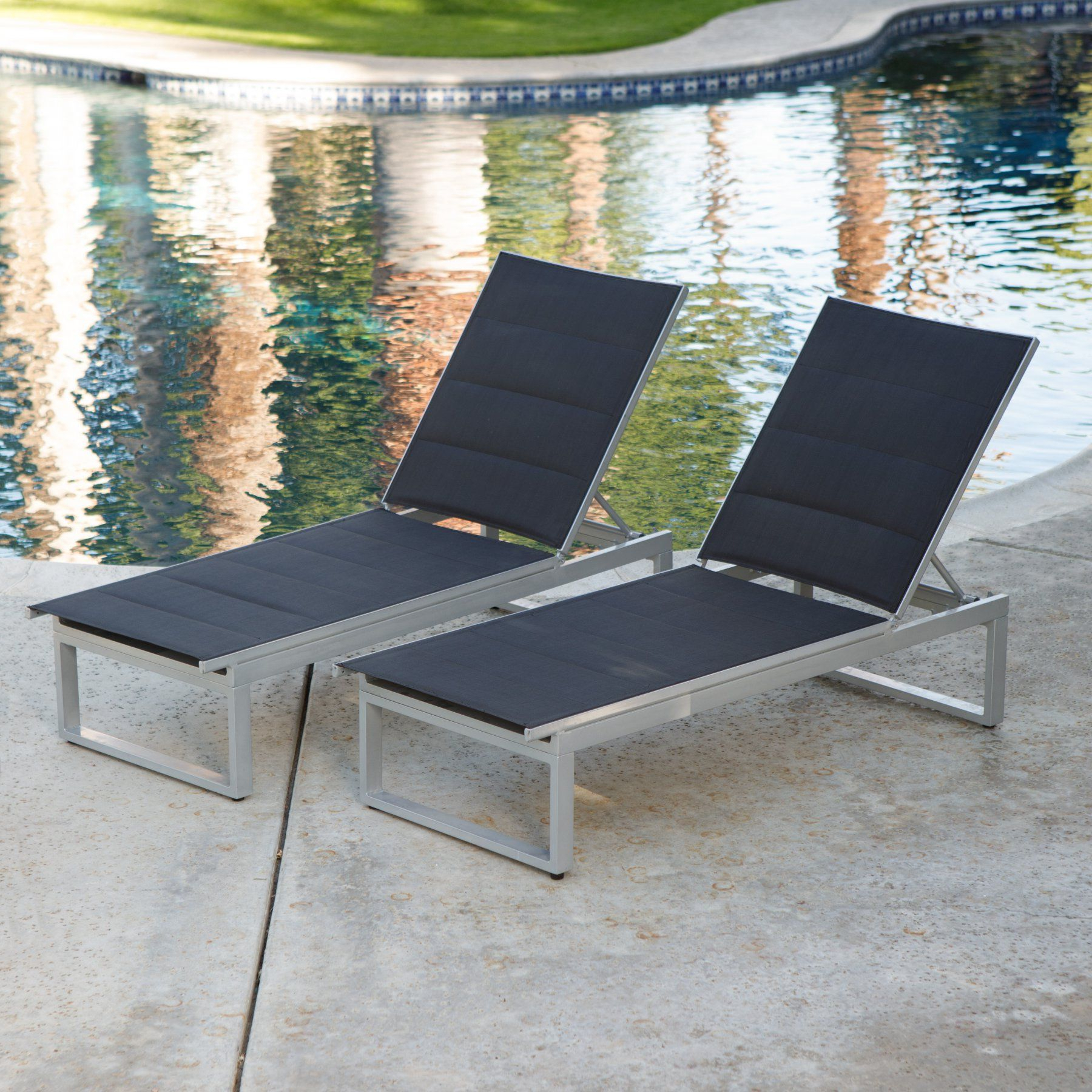 Preferred Myers Outdoor Aluminum Mesh Chaise Lounges For Coral Coast Southwick Padded Sling Outdoor Chaise Lounge (View 9 of 25)