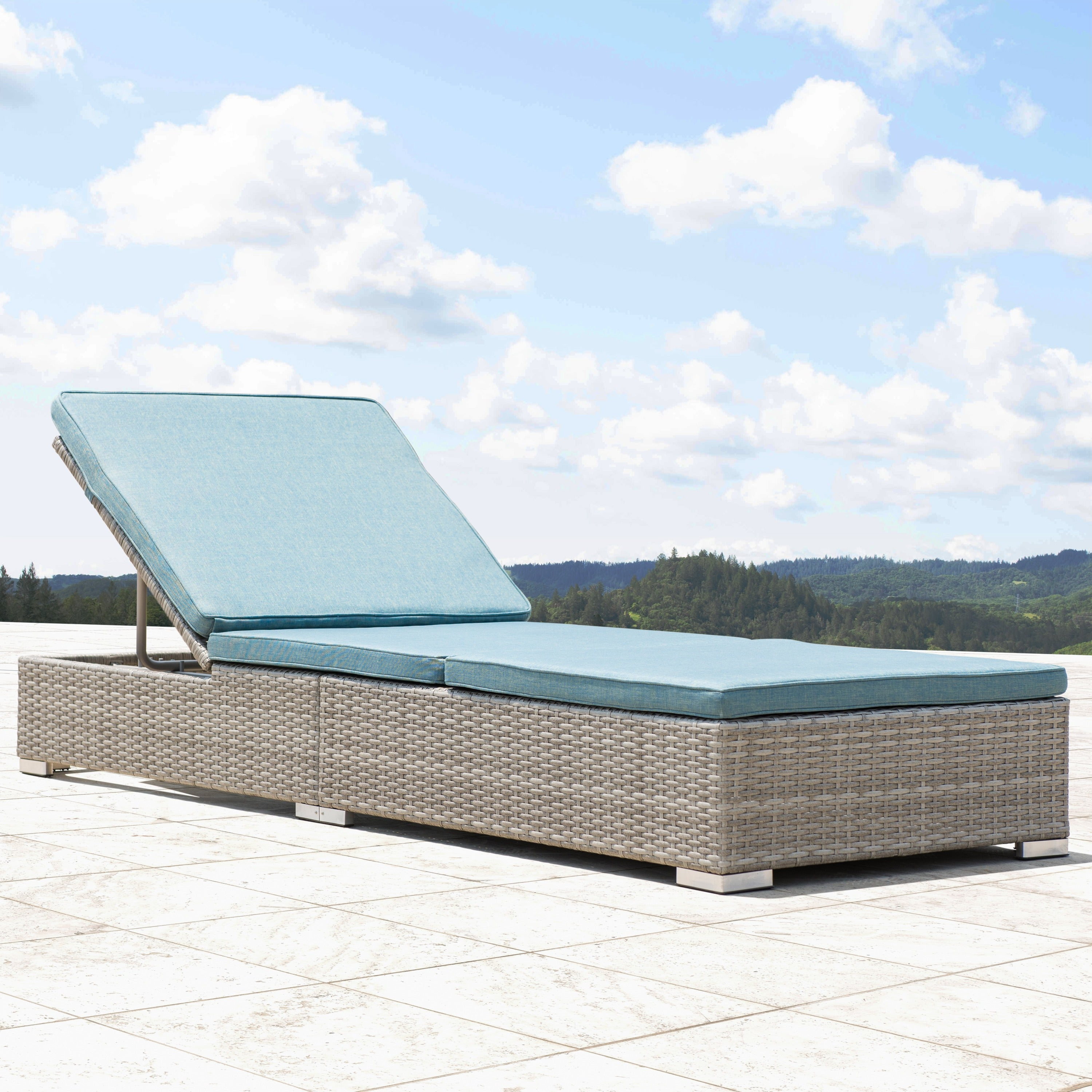Preferred Outdoor Wicker Adjustable Chaise Lounges With Cushions In Corvus Outdoor Wicker Adjustable Chaise Lounges With Cushions (Set Of 2) (View 18 of 25)