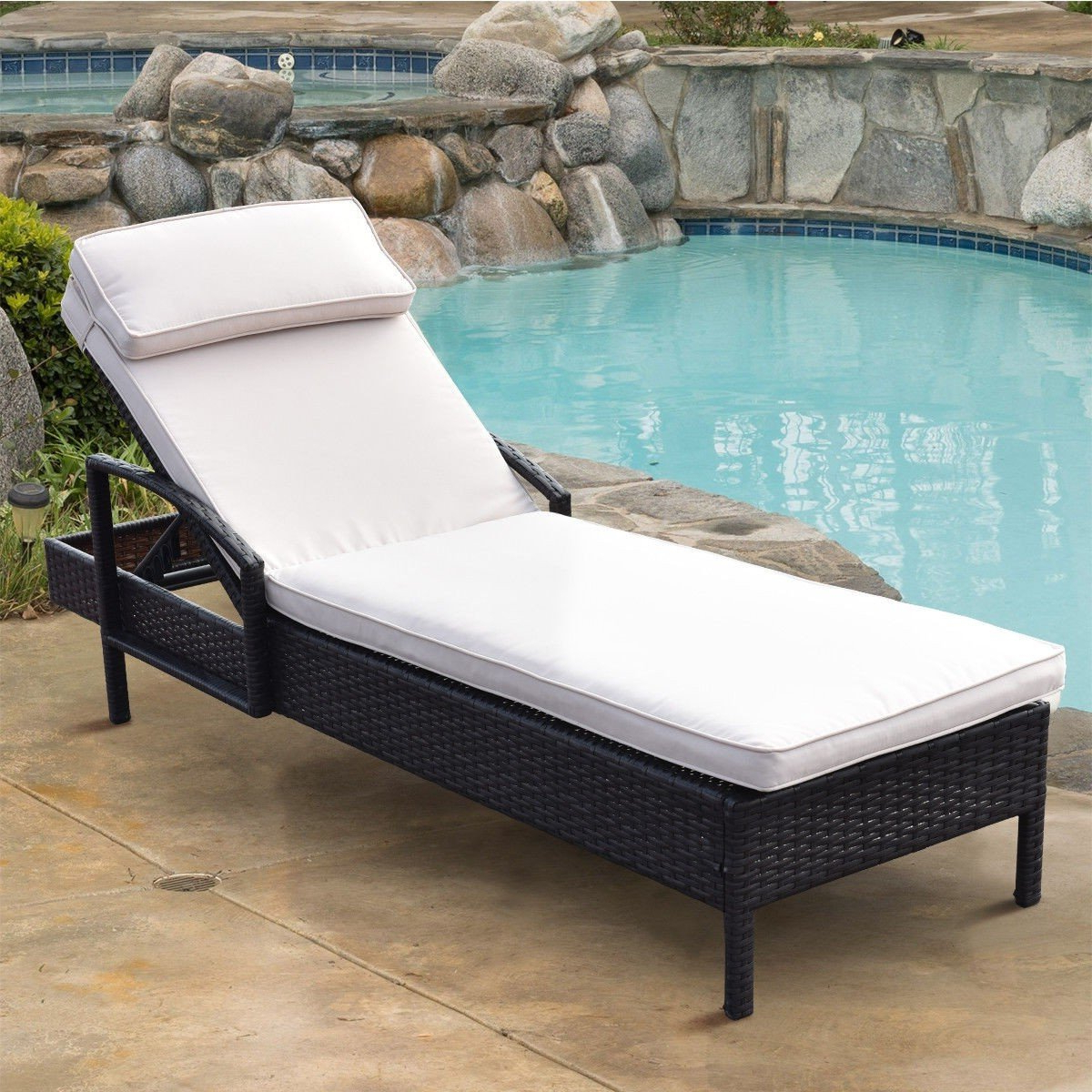 Products In 2019 Pertaining To Perla Outdoor Acacia Wood Chaise Lounge With Cushion (Gallery 23 of 25)