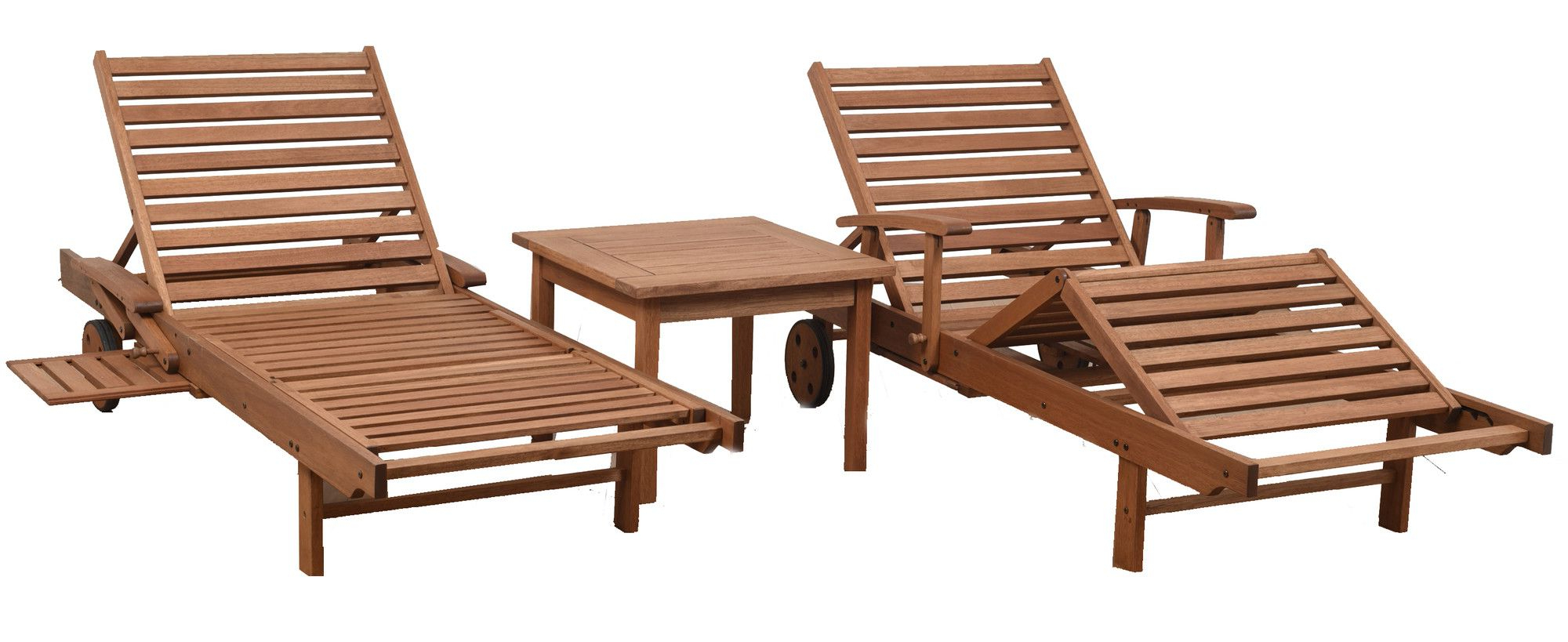 Products Regarding Preferred Outdoor 3 Piece Acacia Wood Chaise Lounge Sets (Gallery 15 of 25)