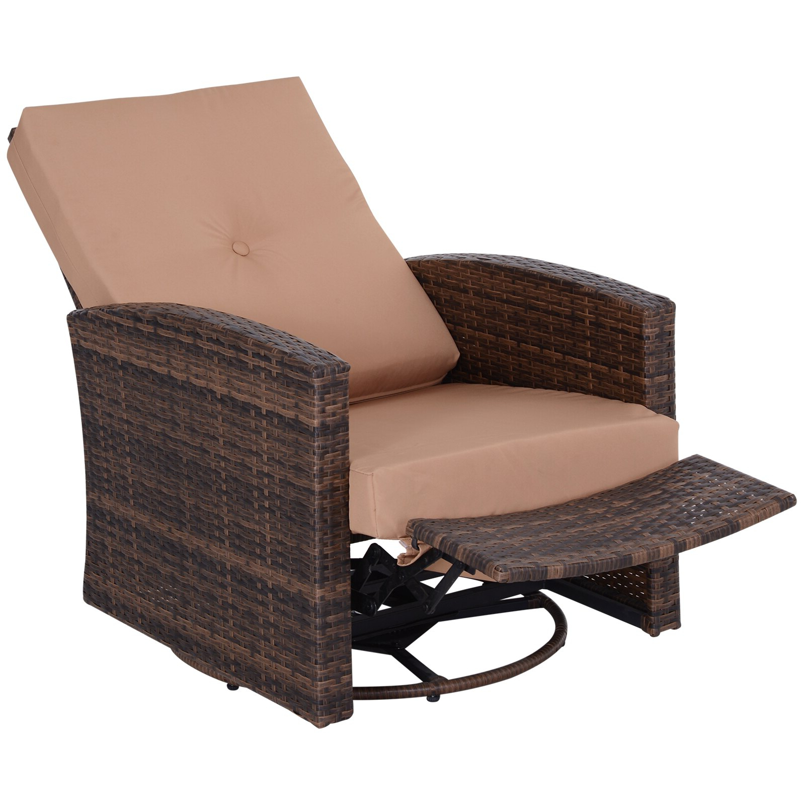 Rakuten Throughout Well Liked Outdoor Adjustable Rattan Wicker Recliner Chairs With Cushion (Gallery 13 of 25)