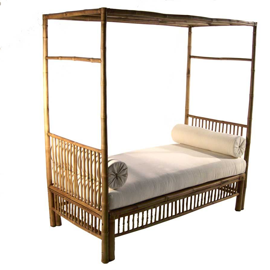 Recent Bamboo Daybeds With Canopy With Regard To Padma's Plantation Solitude Day Bed Natural Antique (View 15 of 25)