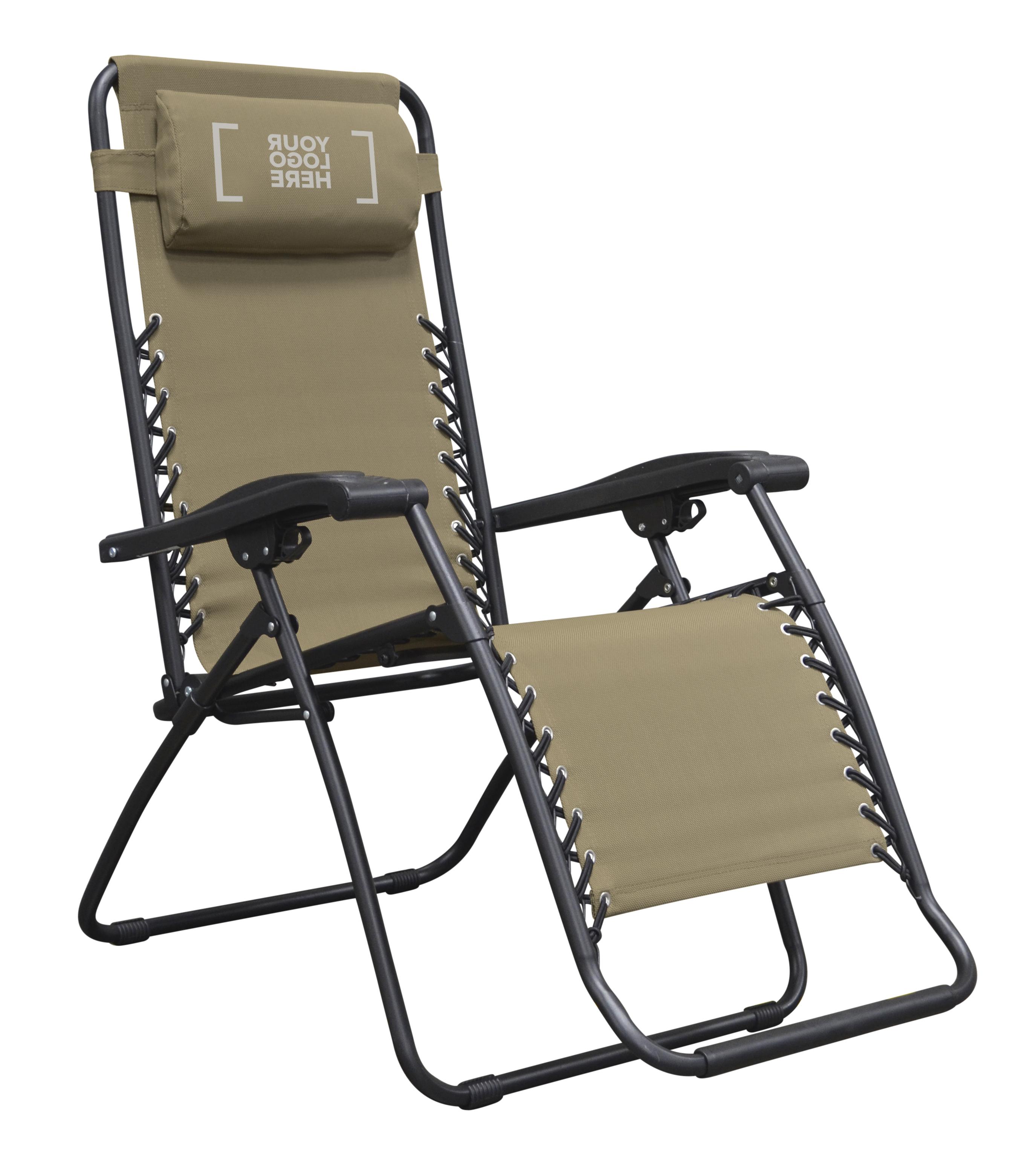 Recent Caravan Canopy Zero Gravity Chairs Within Zero Gravity Chair_Beige_Custom_Logo * Caravan Canopy (Gallery 4 of 25)