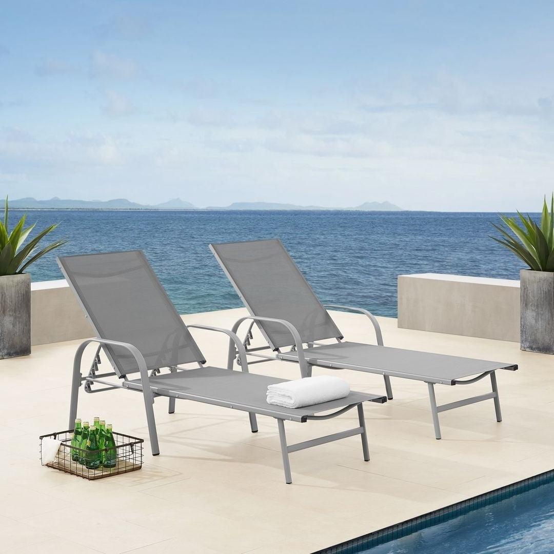 Recent Corvus Antonio Sling Fabric Adjustable Outdoor Chaise Lounge In Antonio Sling Fabric Adjustable Outdoor Chaise Lounges (View 23 of 25)