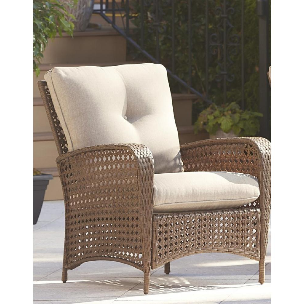 Recent Cosco Lakewood Ranch Steel Woven Wicker Patio Lounge Chairs With Tan Cushions (set Of 2) Regarding Cosco Outdoor Steel Woven Wicker Chaise Lounge Chairs (View 3 of 25)
