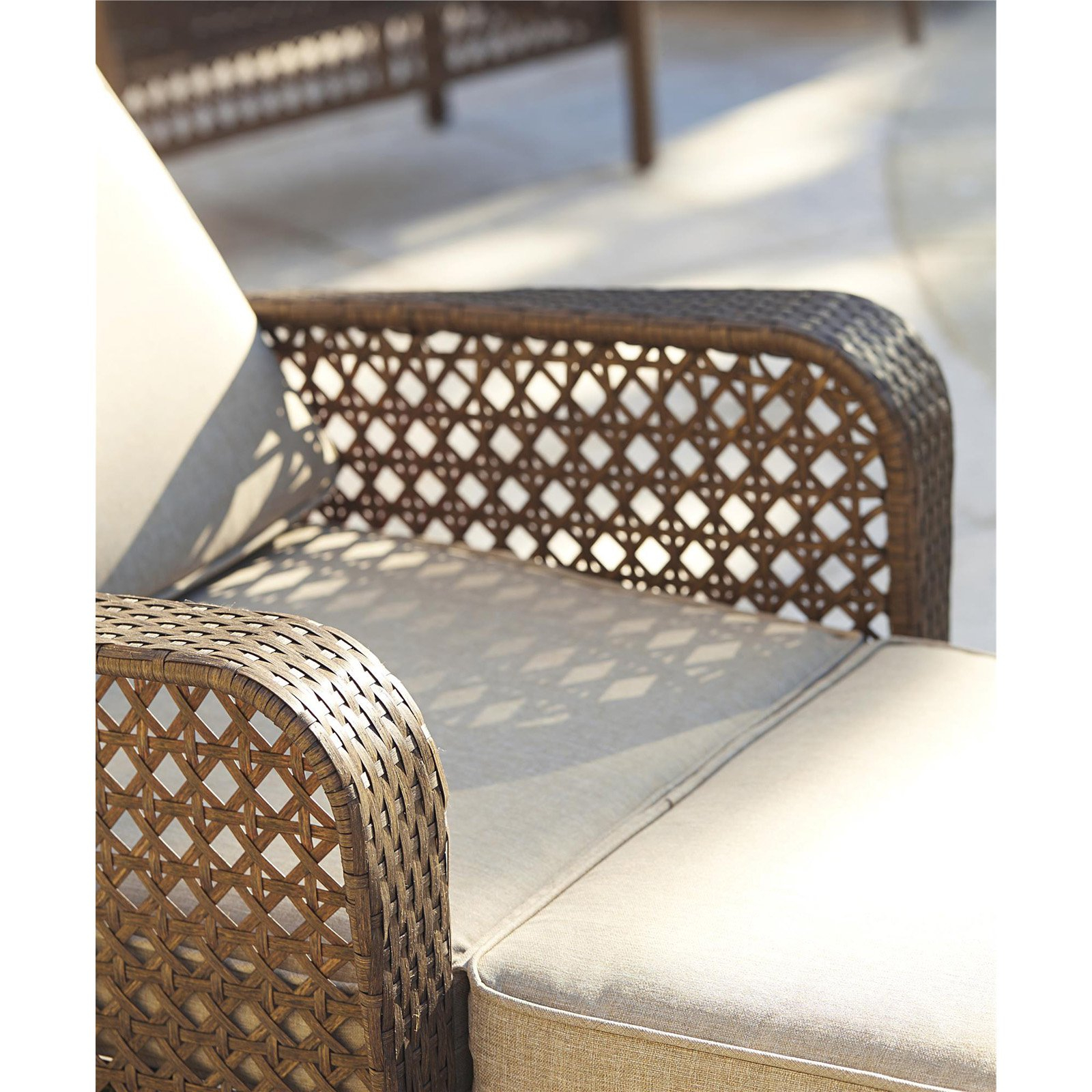 Recent Cosco Outdoor Adjustable Chaise Lounge Chair Lakewood Ranch Steel Woven Wicker Patio Furniture With Cushion, Brown Within Cosco Outdoor Steel Woven Wicker Chaise Lounge Chairs (View 5 of 25)
