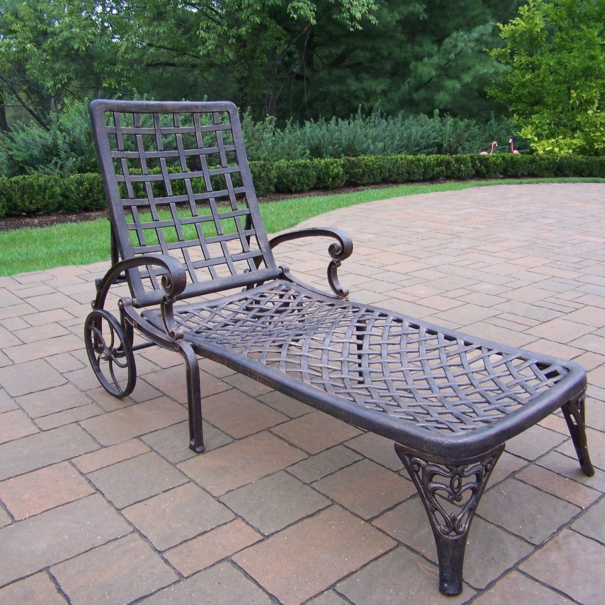 Recent Details About Havenside Home Robbinston Cast Aluminum Wheeled Chaise Lounge Pertaining To Havenside Home Surfside Rutkoske Outdoor Wood Chaise Lounges (View 18 of 25)