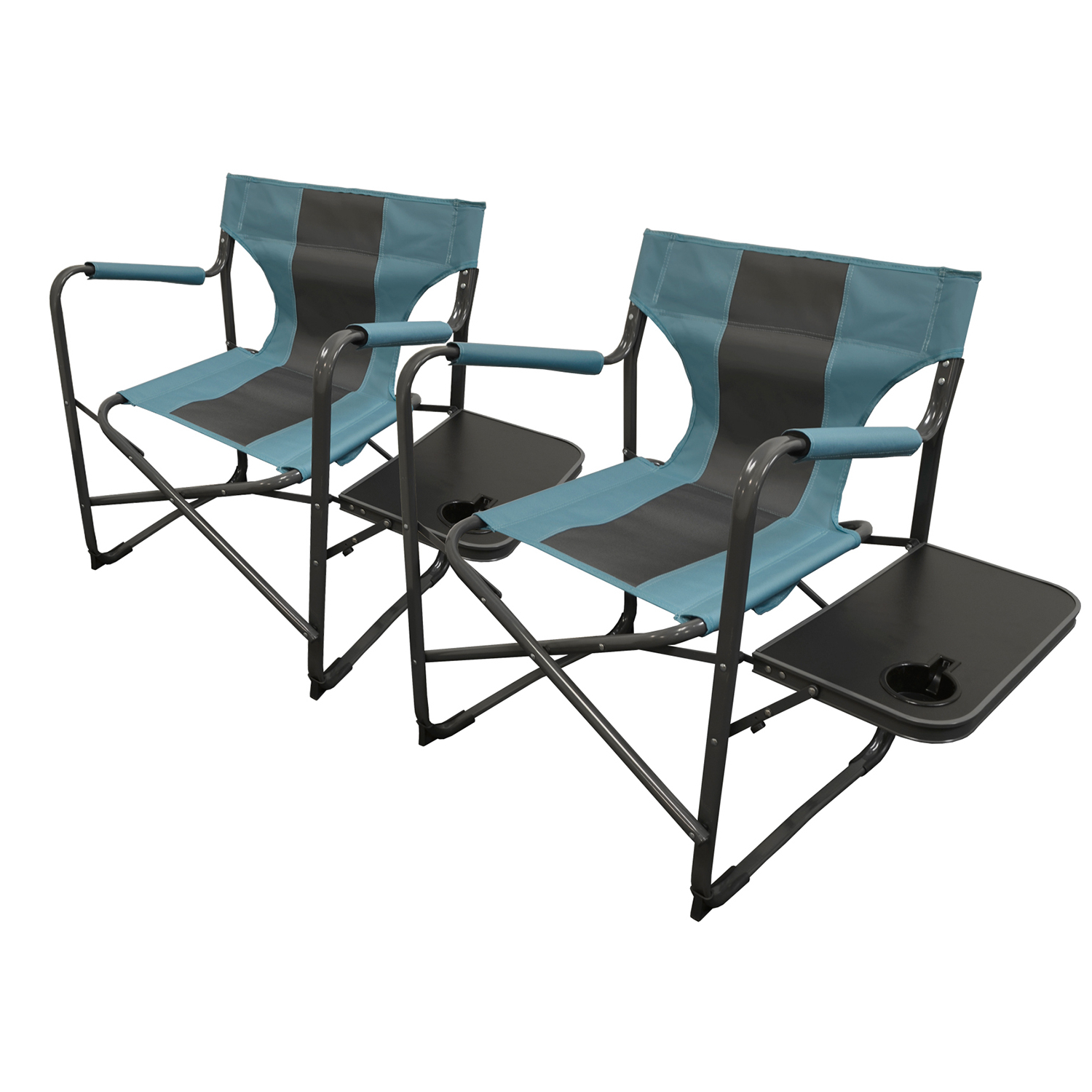 Recent Elite Director's Folding Chair, 2 Pack Intended For Caravan Sports Grey Infinity Chairs (View 20 of 25)