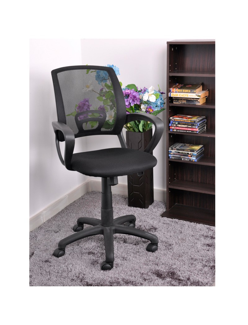 Recent Ergonomic Mid Back Mesh Fabric Back Computer Office Chair Desk Swivel Chair With Mesh Fabric With Steel Frame Chairs With Canopy And Tray (View 21 of 25)