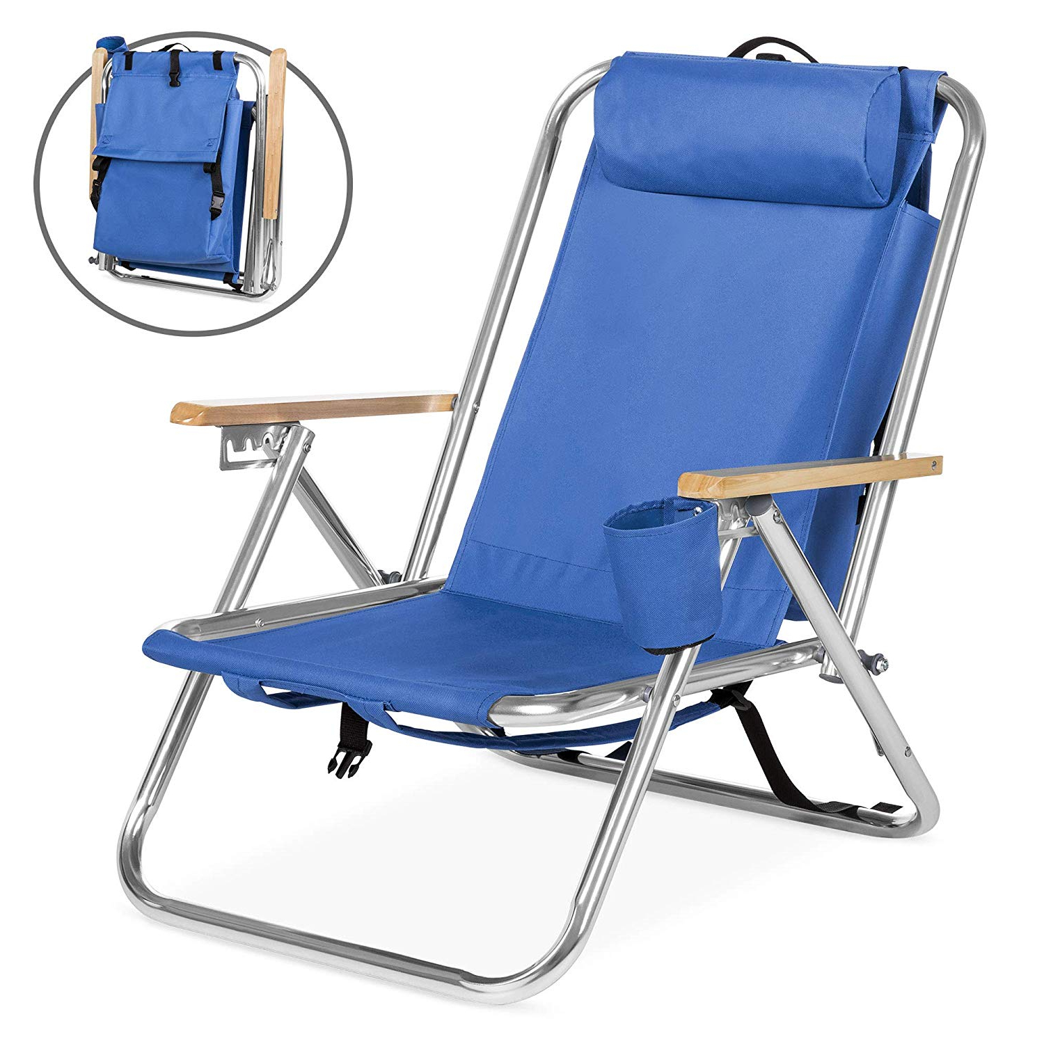 Recent Foldable Camping And Lounge Chairs For Beach Chair, Folding Portable Beach Chair, Adjustable Lounge Chair Recliners For Camping, Lawn, Patio, Pool – Blue, I5435 (Gallery 1 of 25)