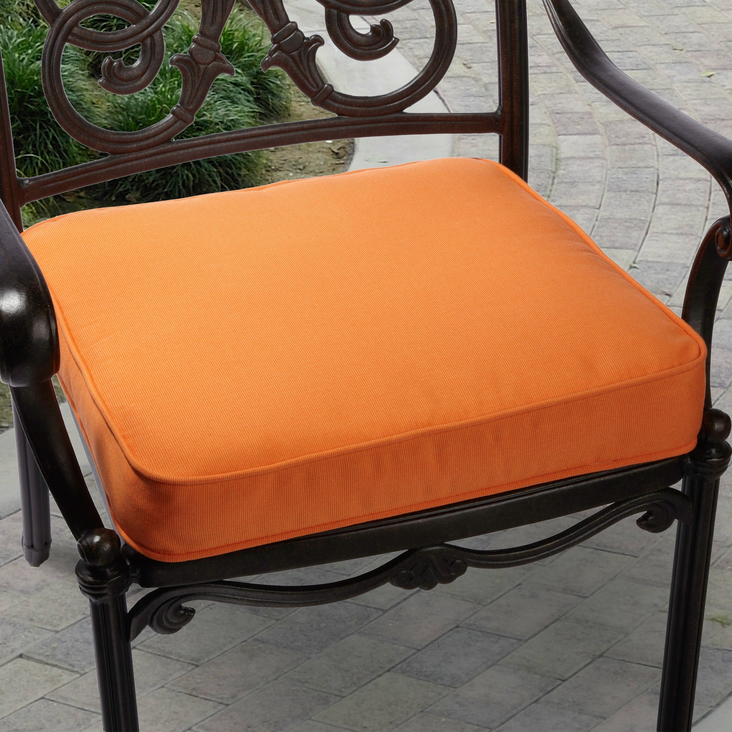 Recent Indoor/ Outdoor Textured Bright 19 Inch Chair Cushion With Sunbrella Fabric Intended For Indoor Outdoor Textured Bright Chaise Lounges With Sunbrella Fabric (Gallery 15 of 25)