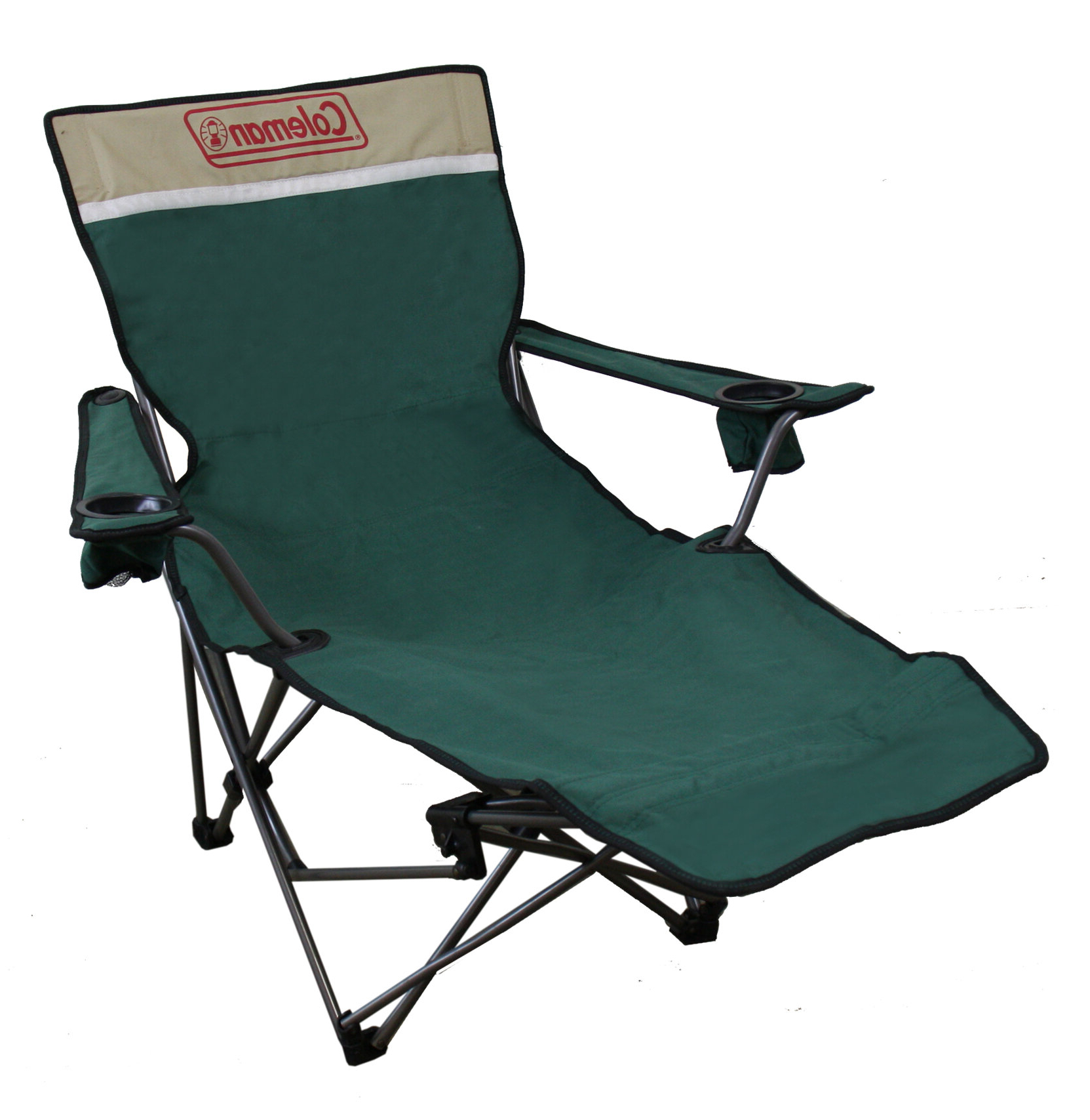 Recent Portable Reclining Beach Chaise Lounge Folding Chairs With Regard To Portable Lounge Reclining Camping Chair With Cushion (Gallery 12 of 25)