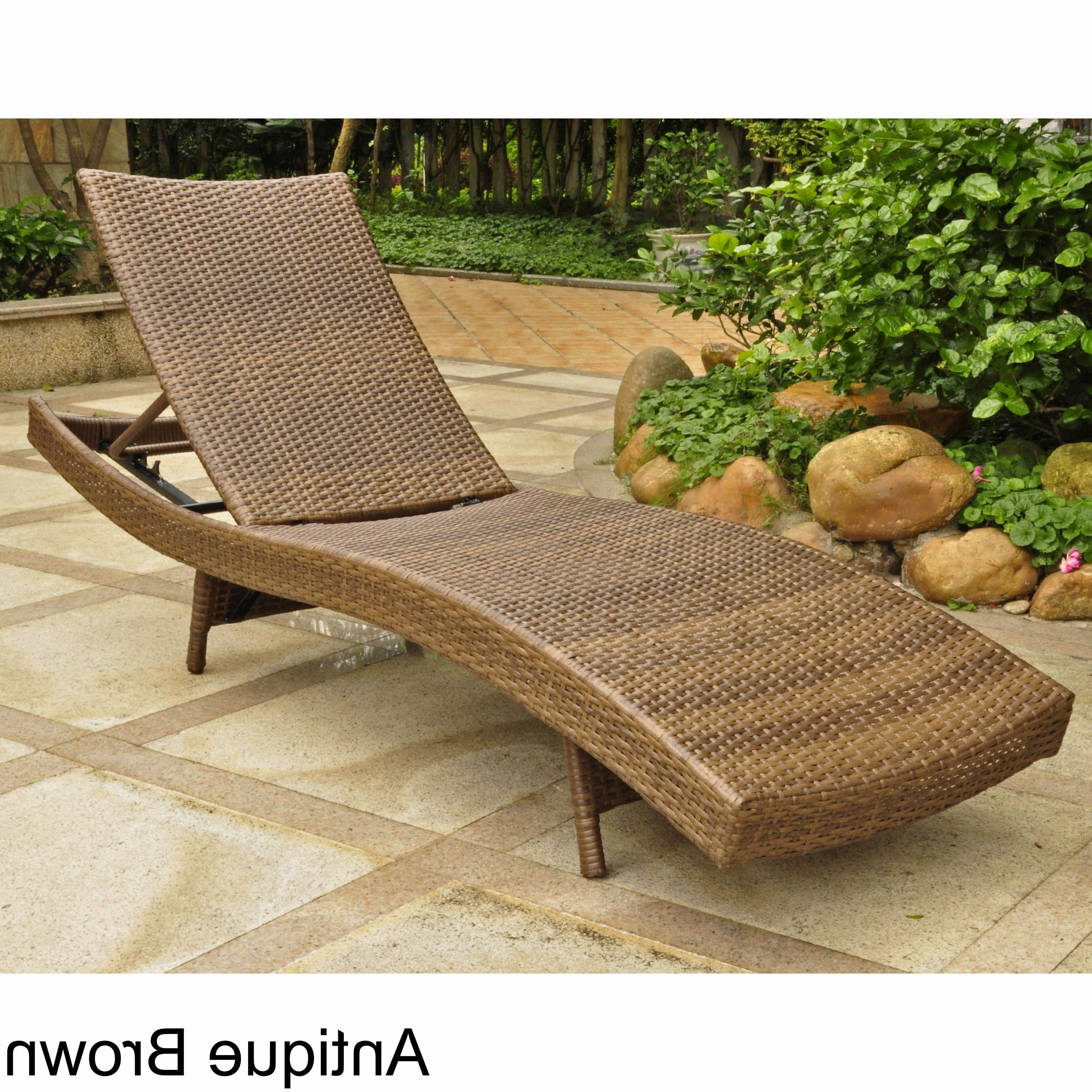 Recent Resin Wicker Multi Position Chaises Regarding International Caravan Barcelona Outdoor Resin Wicker (View 17 of 25)