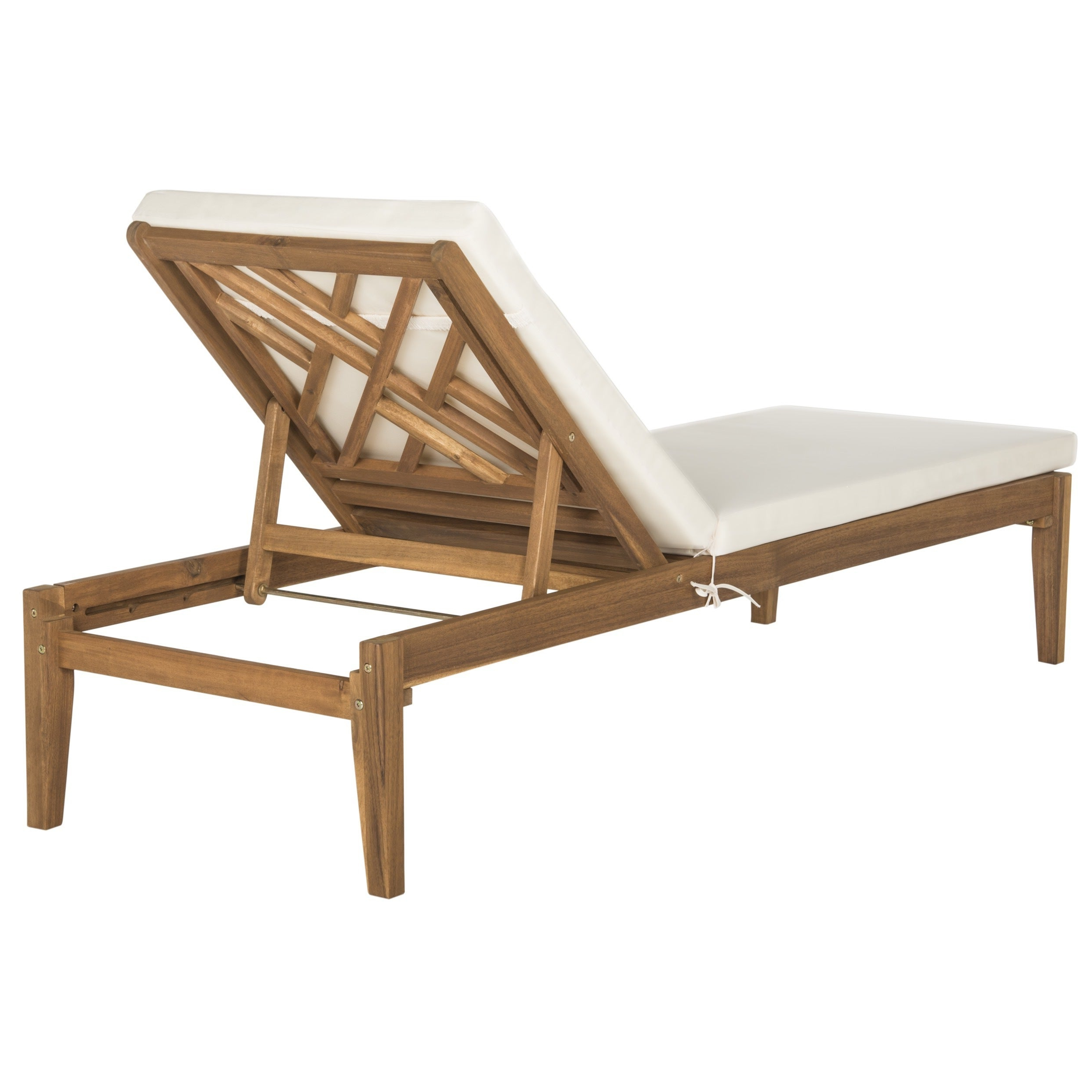 "Recent Safavieh Outdoor Living Azusa Brown/ Beige Sunlounger – 23.6"" X 74.4"" X (View 3 of 25)"