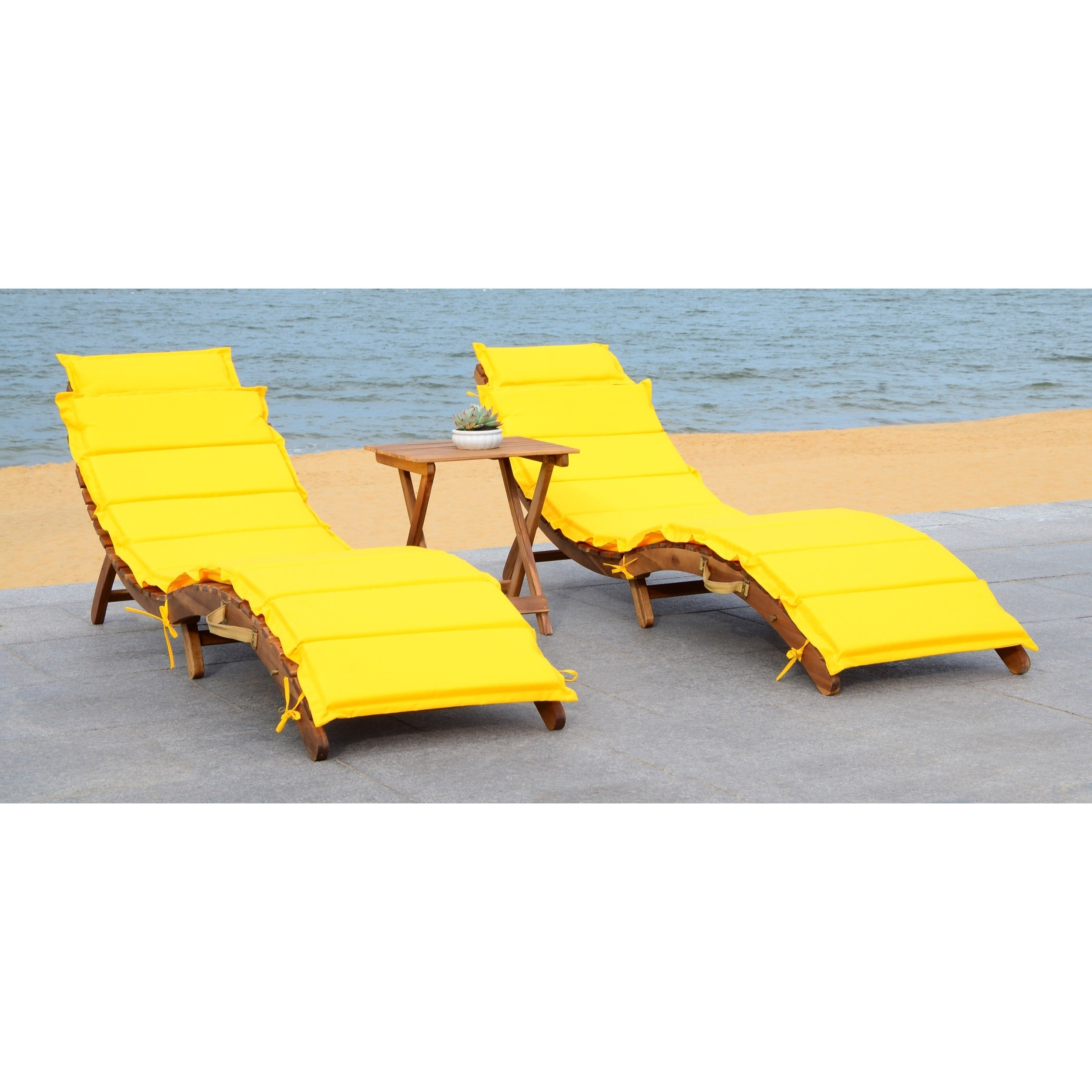 Recent Safavieh Outdoor Living Pacifica Brown/ Yellow Piece Lounge Set Pertaining To Outdoor Living Pacifica Piece Lounge Sets (Gallery 4 of 25)