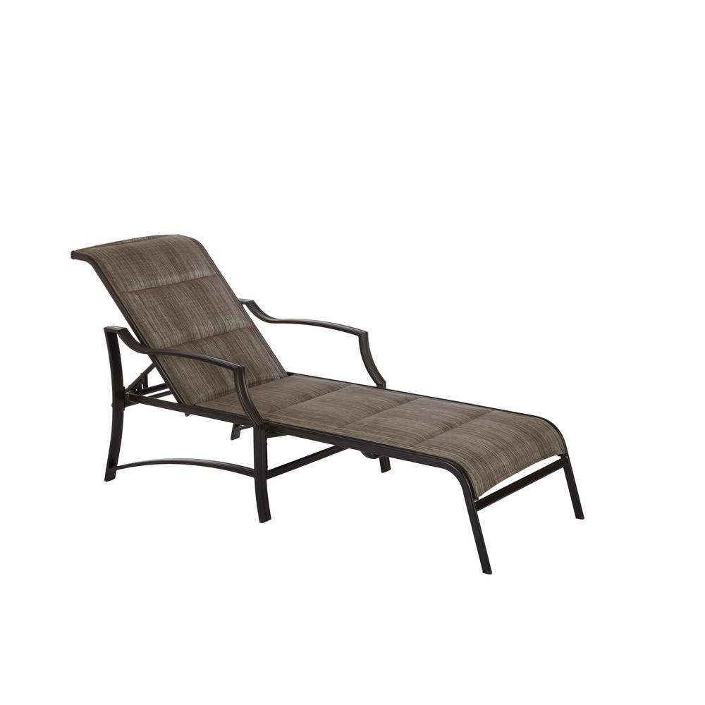 Recent Shore Alumunium Outdoor 3 Piece Chaise Lounger Sets Pertaining To Hampton Bay Statesville Pewter Aluminum Outdoor Chaise Lounge (Gallery 8 of 25)