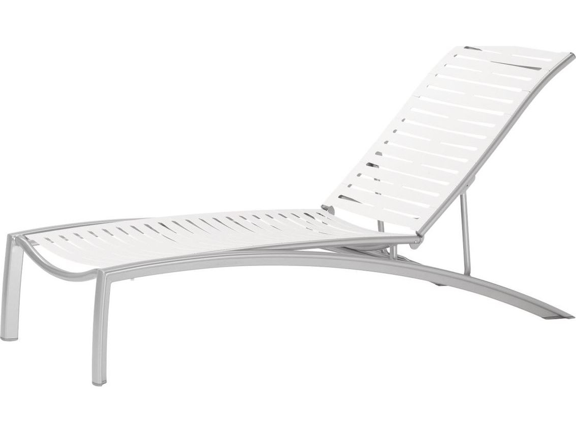 Recent South Beach Chaise Lounges Regarding Tropitone South Beach Ribbon Aluminum Adjustable Stackable Chaise Lounge (Gallery 14 of 25)
