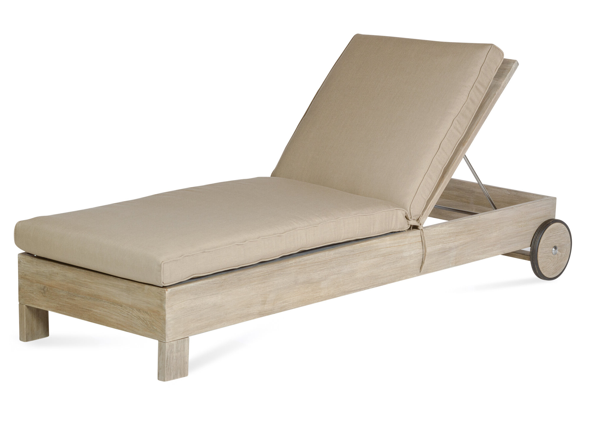 Recent Teak Chaise Loungers Inside Boykin Teak Chaise Lounge With Cushion (Gallery 13 of 25)