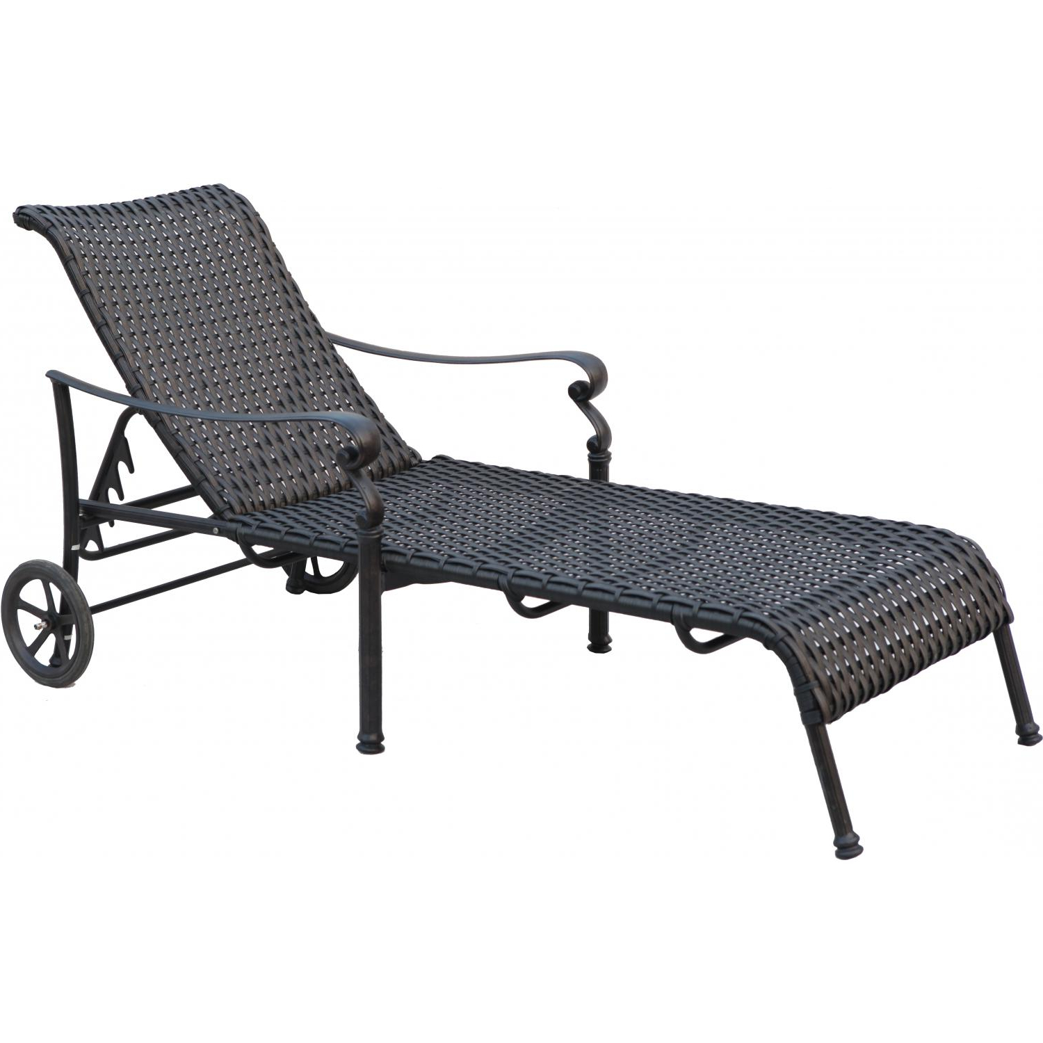 Resin Wicker Aluminum Multi Position Chaise Lounges Inside Most Recently Released Darlee Victoria Resin Wicker Patio Chaise Lounge (Set Of 2) (View 17 of 25)