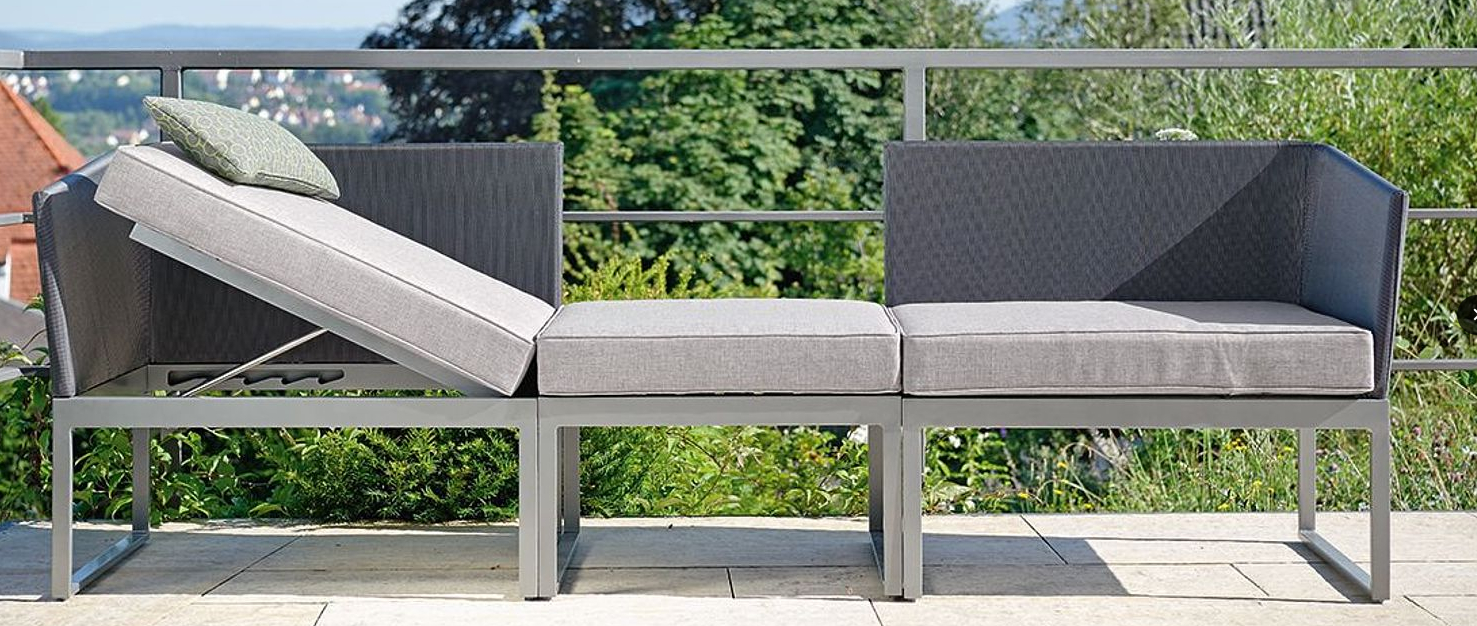 Resin Wicker Aluminum Multi Position Chaise Lounges Within 2020 Contemporary Powder Coated Aluminum Textilene Multi Function (View 20 of 25)