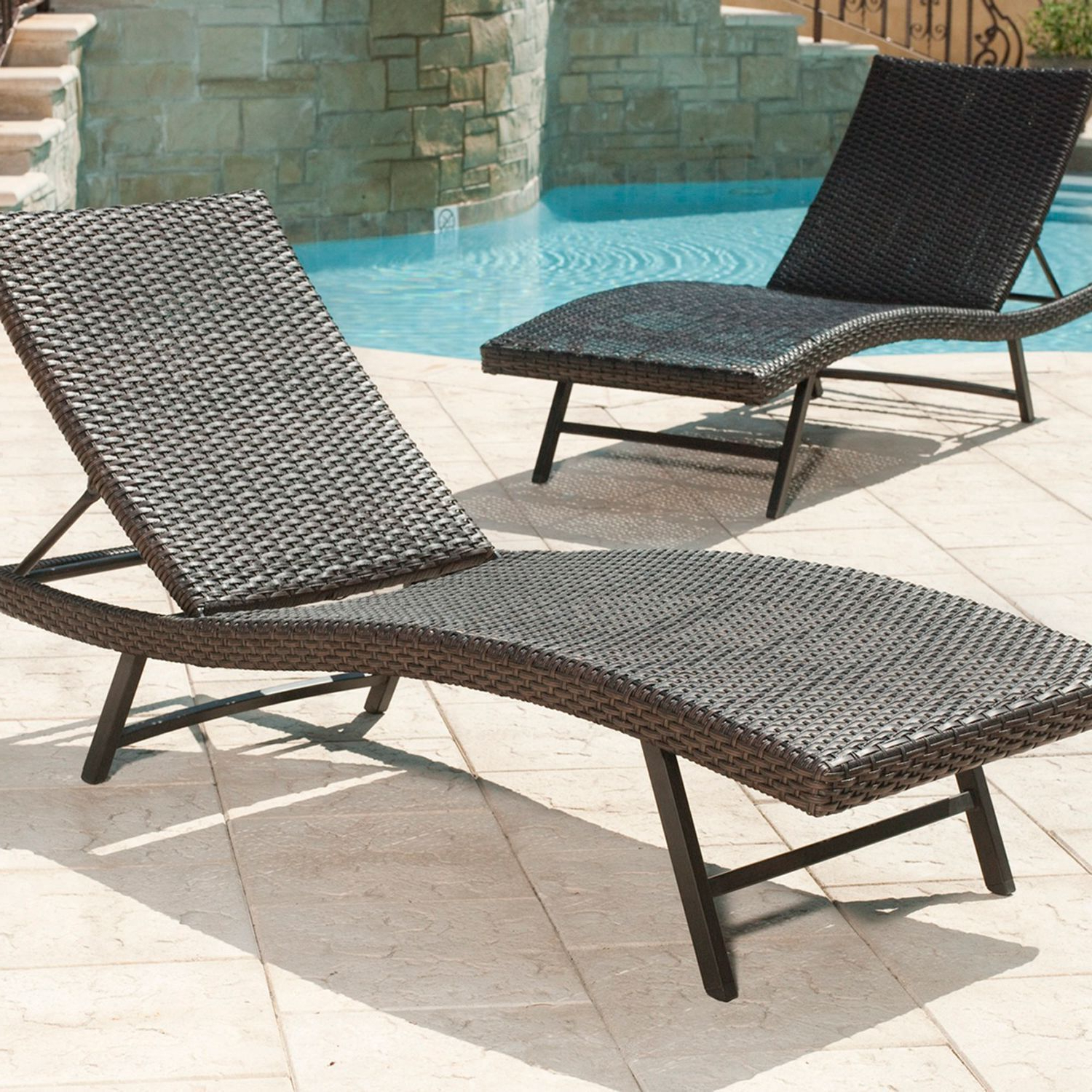 Resin Wicker Multi Position Double Patio Chaise Lounges With 2020 Member's Mark Heritage Chaise Lounges, 2 Pack – Sam's Club (View 25 of 25)