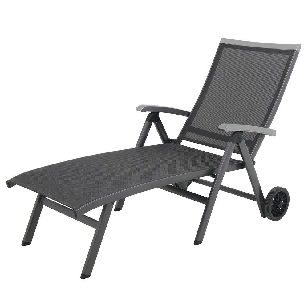 Royal Garden Ludwig Sling Outdoor Folding Chaise Lounge For Well Known Steel Sling Fabric Outdoor Folding Chaise Lounges (View 14 of 25)