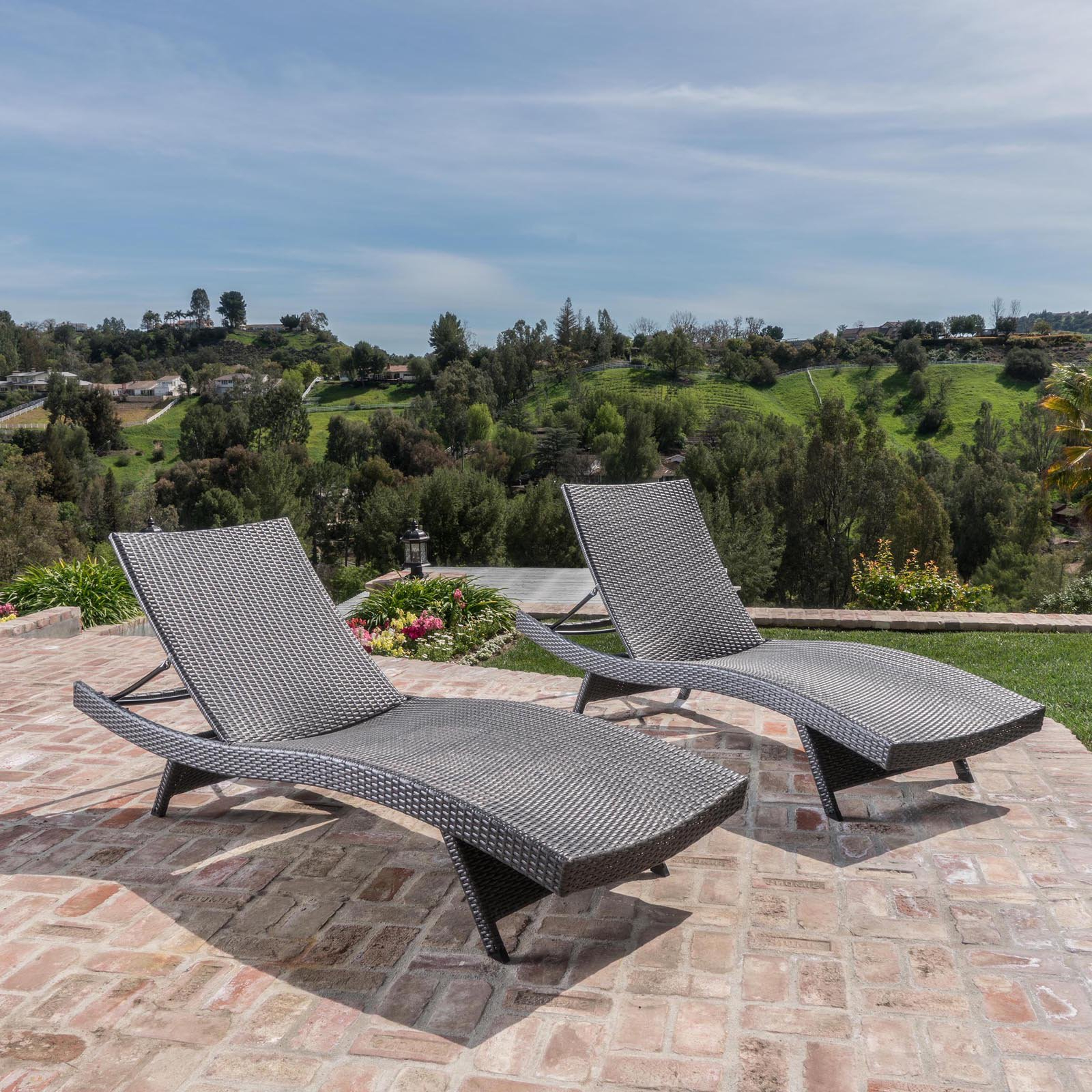 Salem Outdoor Wicker Chaise Lounge Chair – Set Of 2 Intended For Newest Resin Wicker Aluminum Multi Position Chaise Lounges (View 22 of 25)