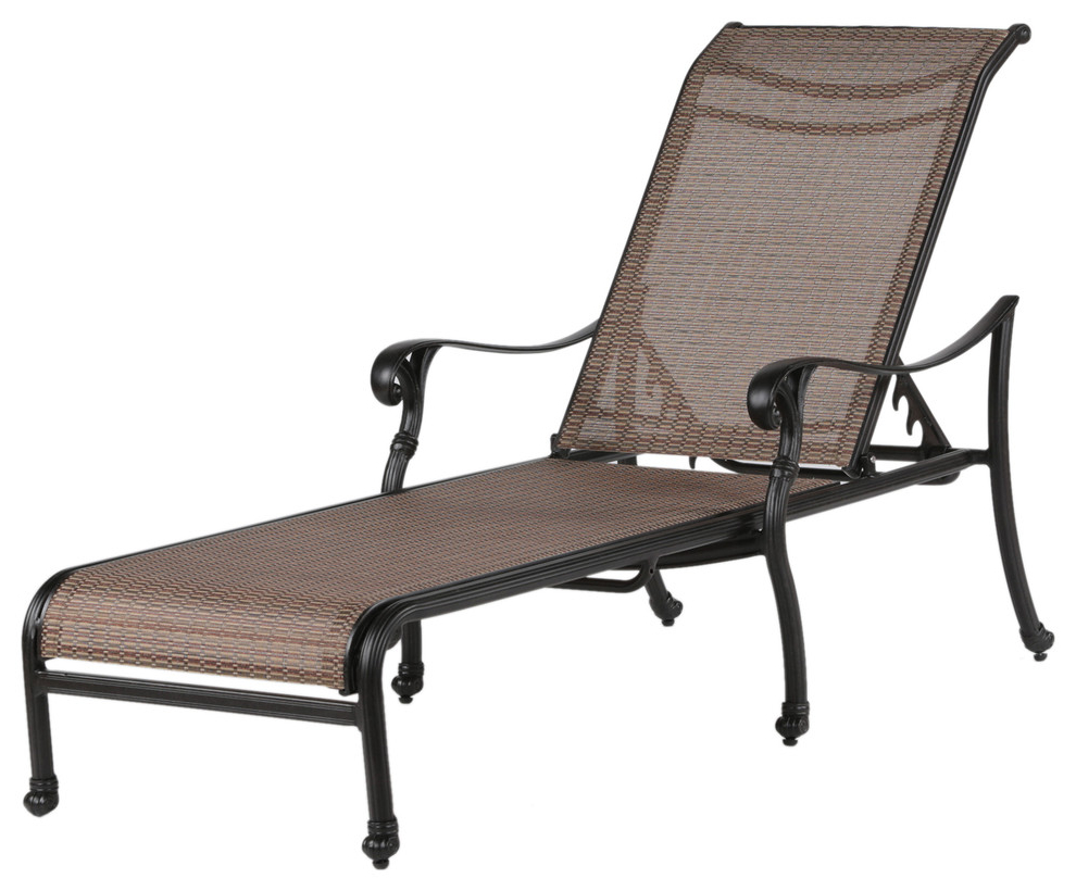 Salton Outdoor Aluminum Chaise Lounges Throughout Most Current Sparta Sling Chaise Lounge, Patio Pool Sun Lounger Chair For Indoor And  Outdoor (View 19 of 25)