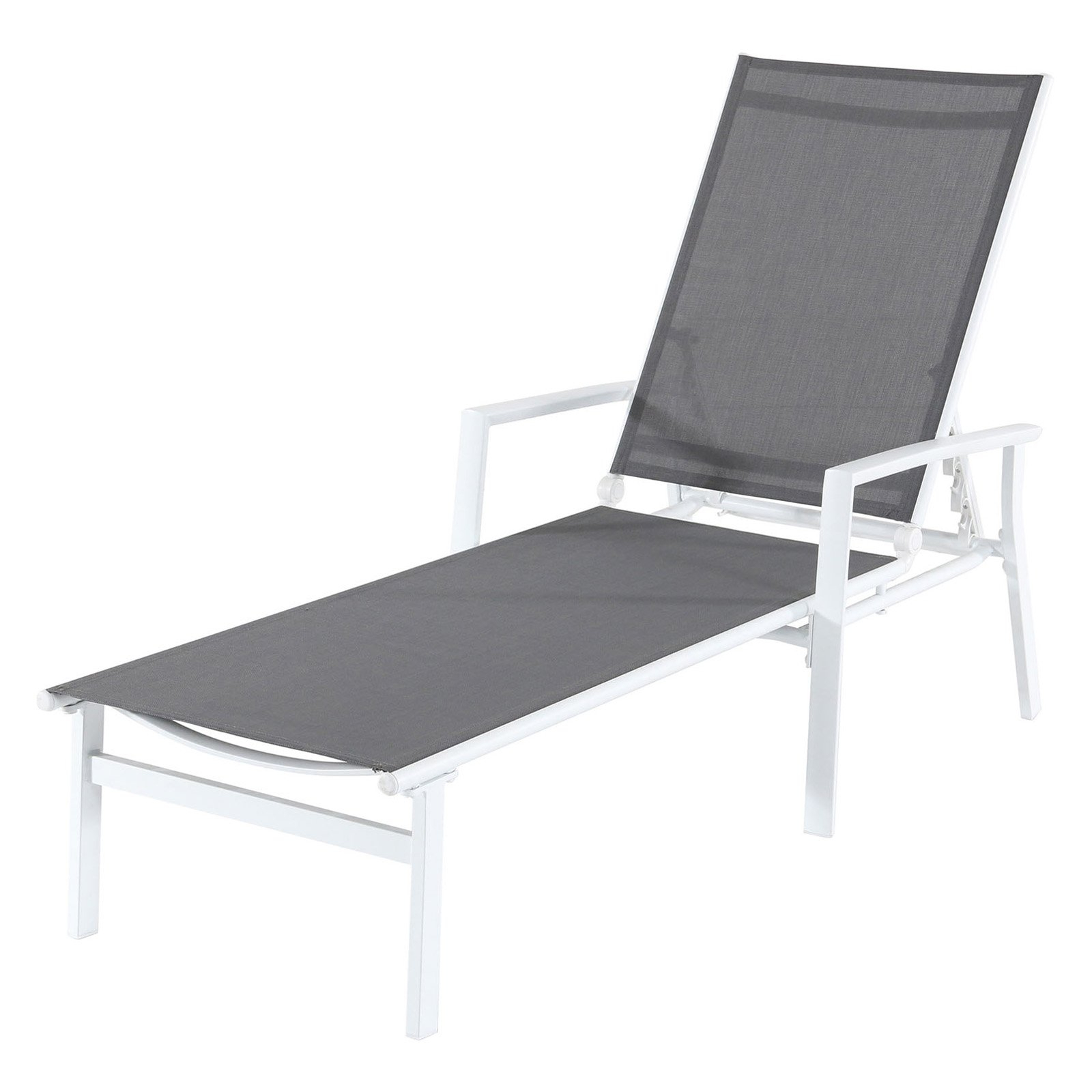 Salton Outdoor Aluminum Chaise Lounges With Latest Outdoor Cambridge Nova Sling Adjustable Chaise Lounge Gray (View 17 of 25)