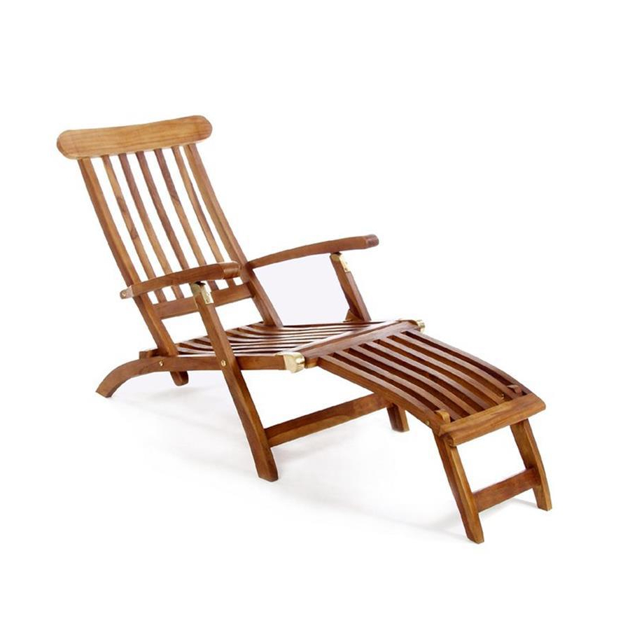 Shop All Things Cedar Brown Teak Folding Patio Chaise Sling Intended For Most Recently Released Brown Folding Patio Chaise Lounger Chairs (View 19 of 25)
