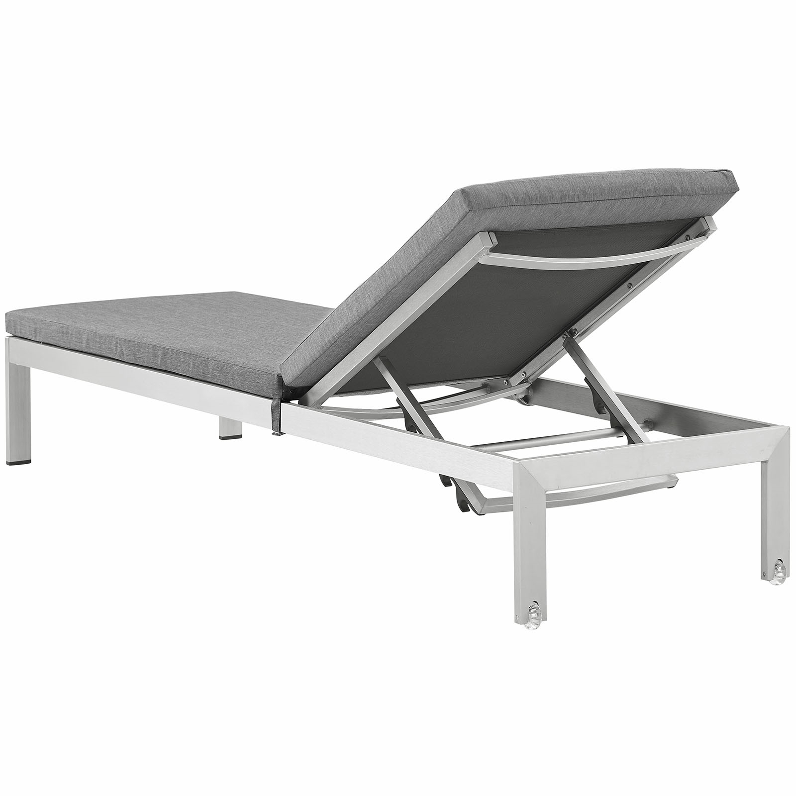 Shore Aluminum Outdoor Chaise Lounges With Fashionable Shore Outdoor Patio Aluminum Chaise With Cushions (View 18 of 25)