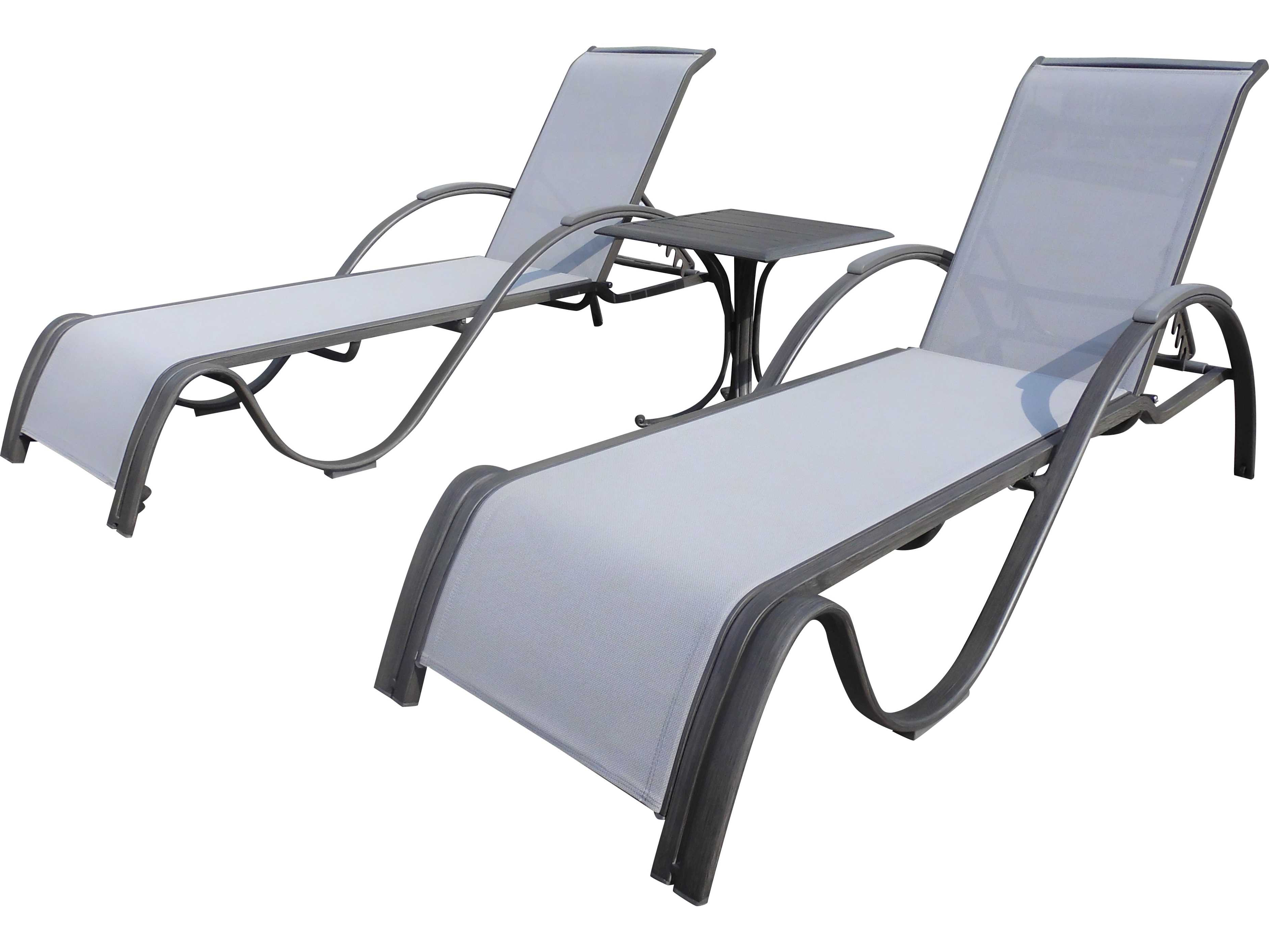 Shore Alumunium Outdoor 3 Piece Chaise Lounger Sets With Regard To Fashionable Panama Jack Newport Beach Wicker 3 Pc Chaise Lounge Set (View 22 of 25)