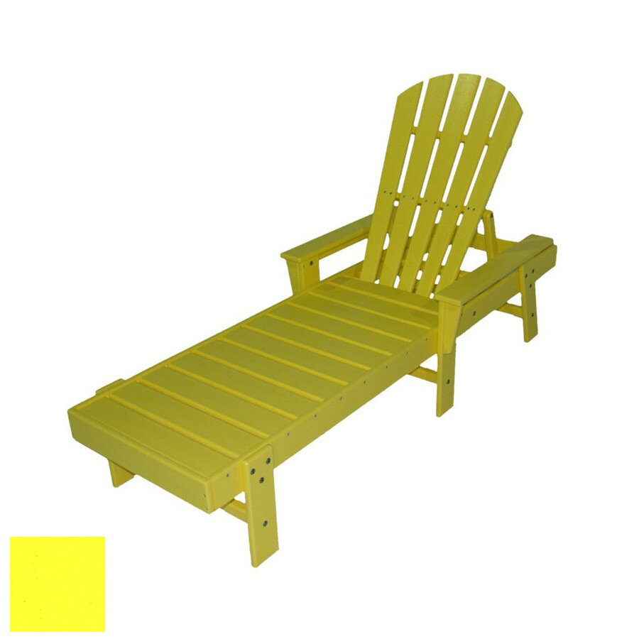 South Beach Chaise Lounges Pertaining To 2019 Polywood South Beach Plastic Patio Chaise Lounge At Lowes (View 20 of 25)