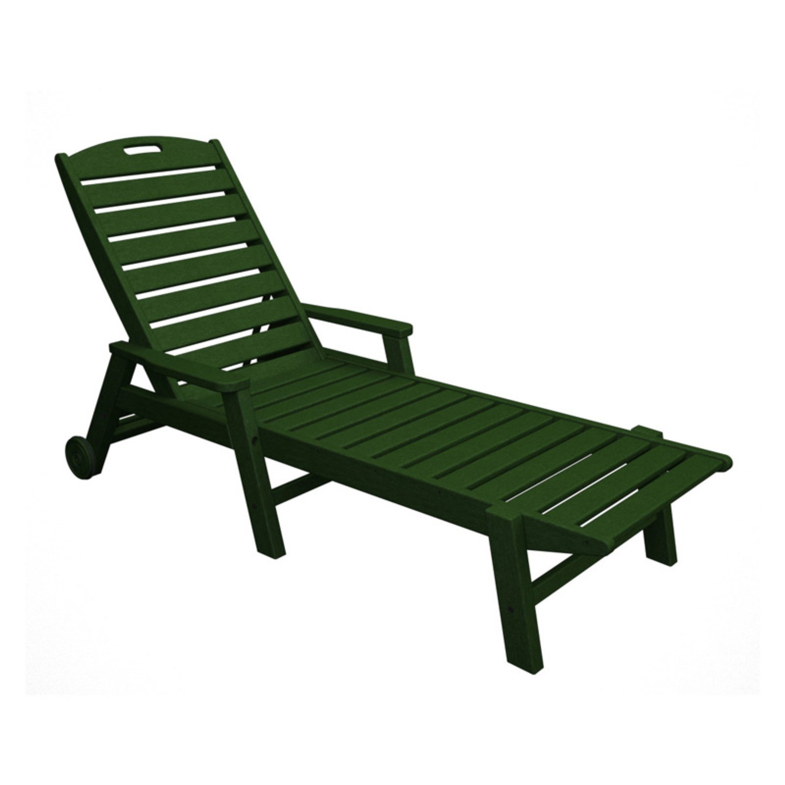 Stackable Nautical Outdoor Chaise Lounges Intended For Best And Newest Outdoor Polywoodâ® Nautical Stackable Wheeled Chaise With (View 5 of 25)