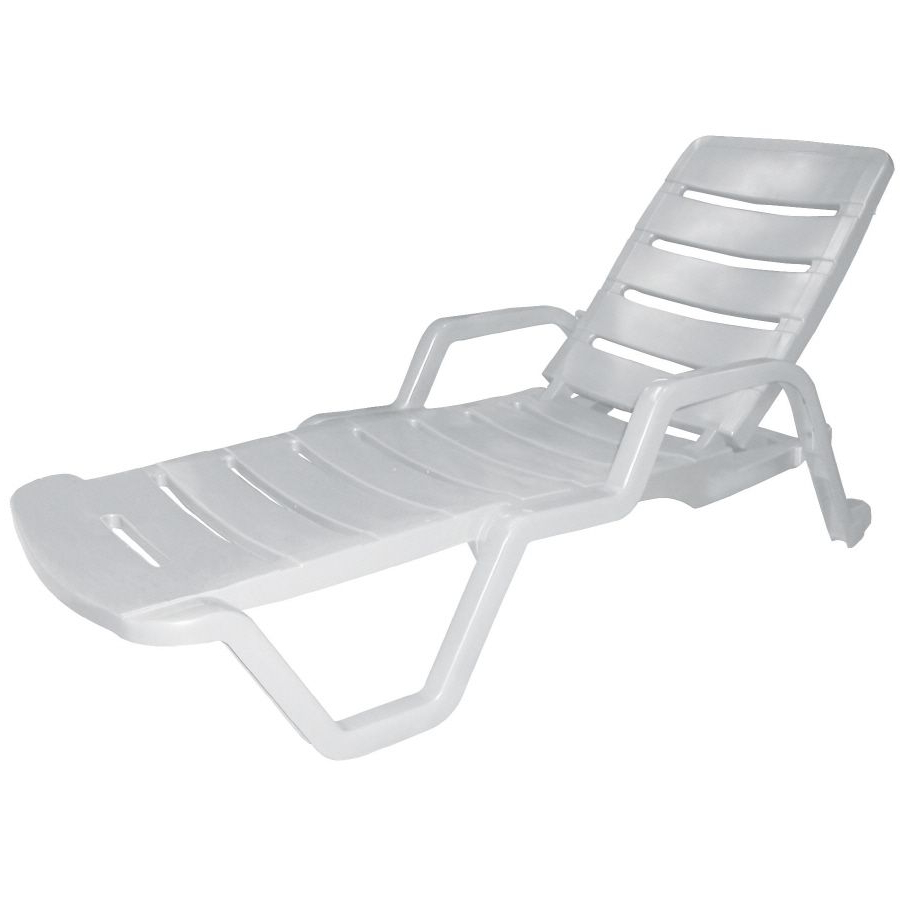 Stackable Nautical Outdoor Chaise Lounges Throughout Recent Adams Mfg Corp Stackable White Resin Chaise Lounge Chair (View 21 of 25)