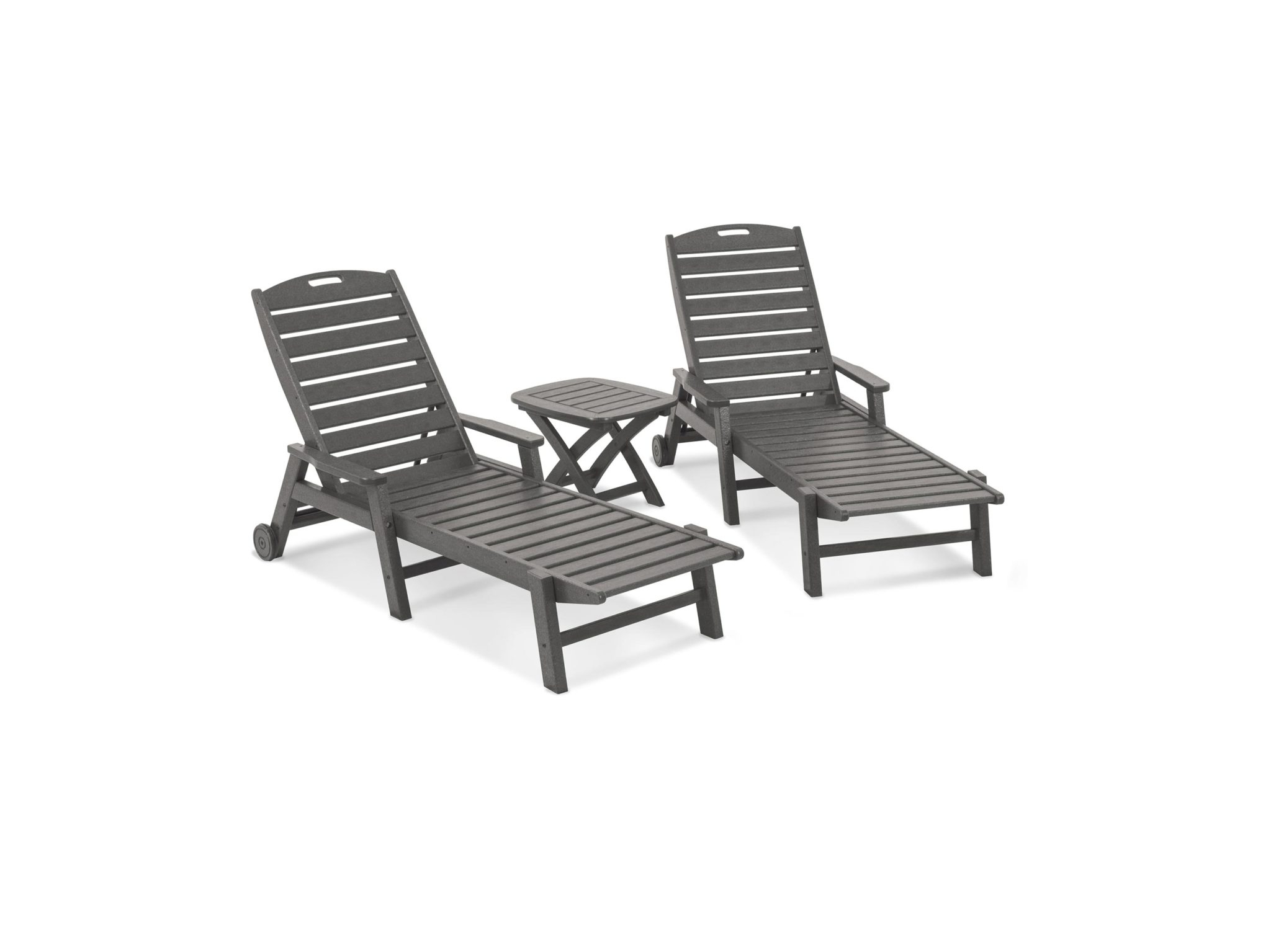 Stackable Nautical Outdoor Chaise Lounges With Latest Nautical 3 Piece Chaise Set (View 12 of 25)