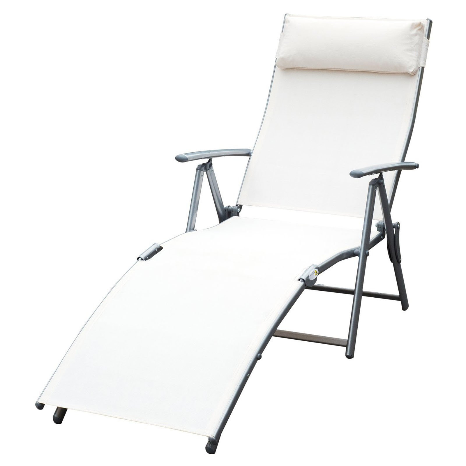 Steel Sling Fabric Outdoor Folding Chaise Lounges With Most Recently Released Outsunny Steel Sling Outdoor Folding Chaise Lounge Chair (View 21 of 25)