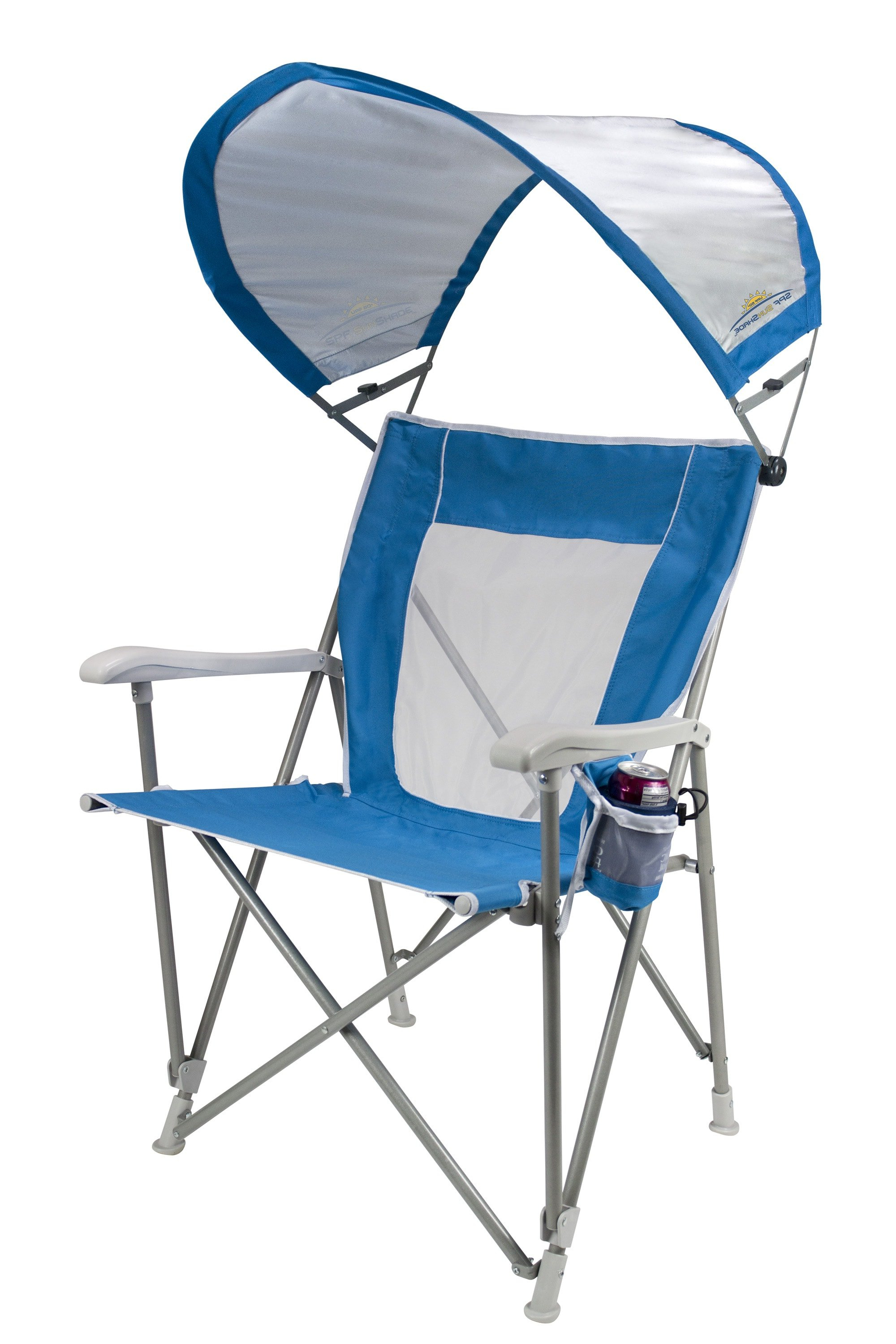 Sunshade Captain's Chair™ In Current Mesh Fabric With Steel Frame Chairs With Canopy And Tray (View 15 of 25)