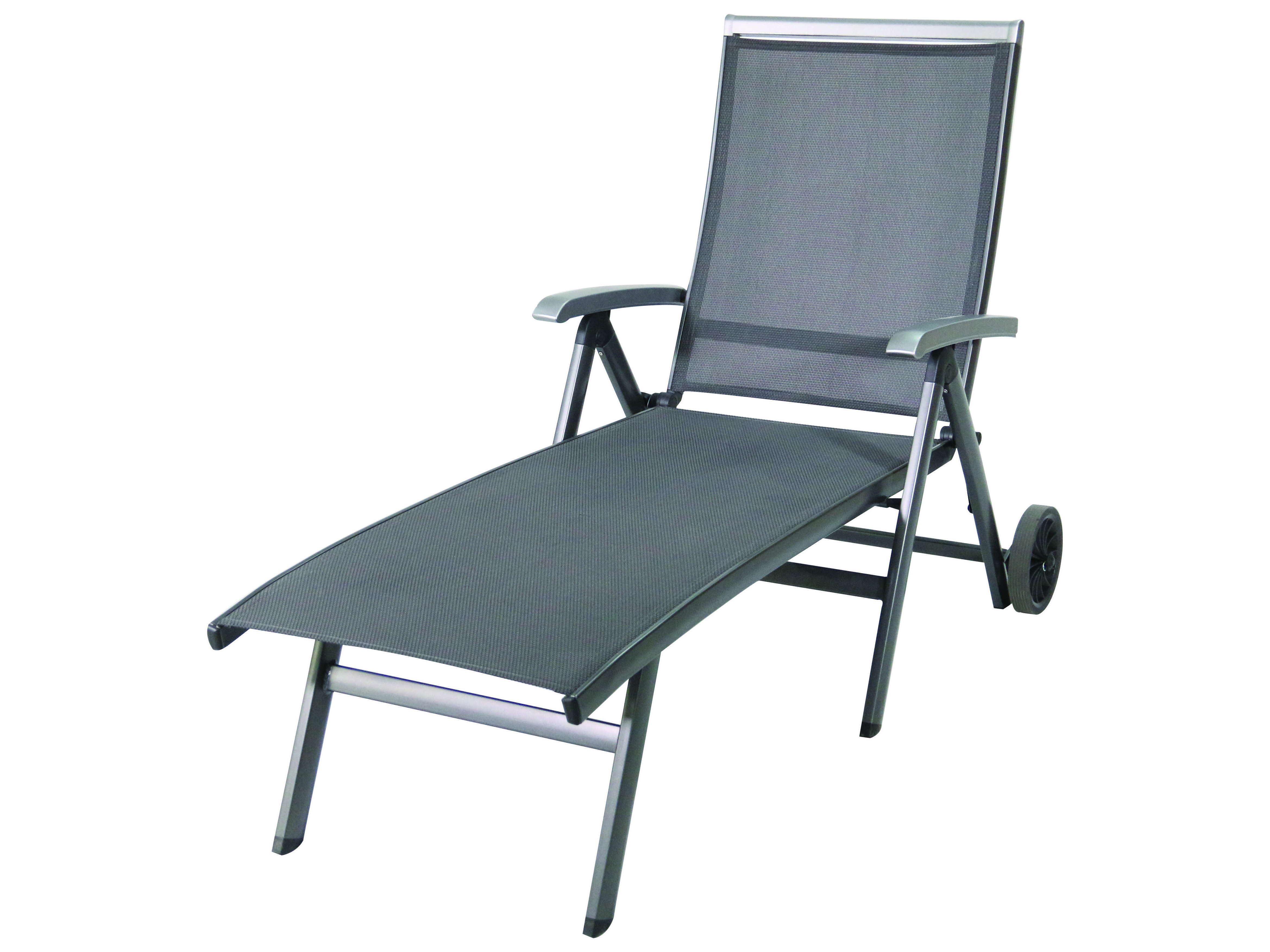 Sunvilla Bristol Sling Aluminum Wheeled Chaise In Midnight With Regard To Well Known Aluminum Wheeled Chaise Lounges (View 20 of 25)