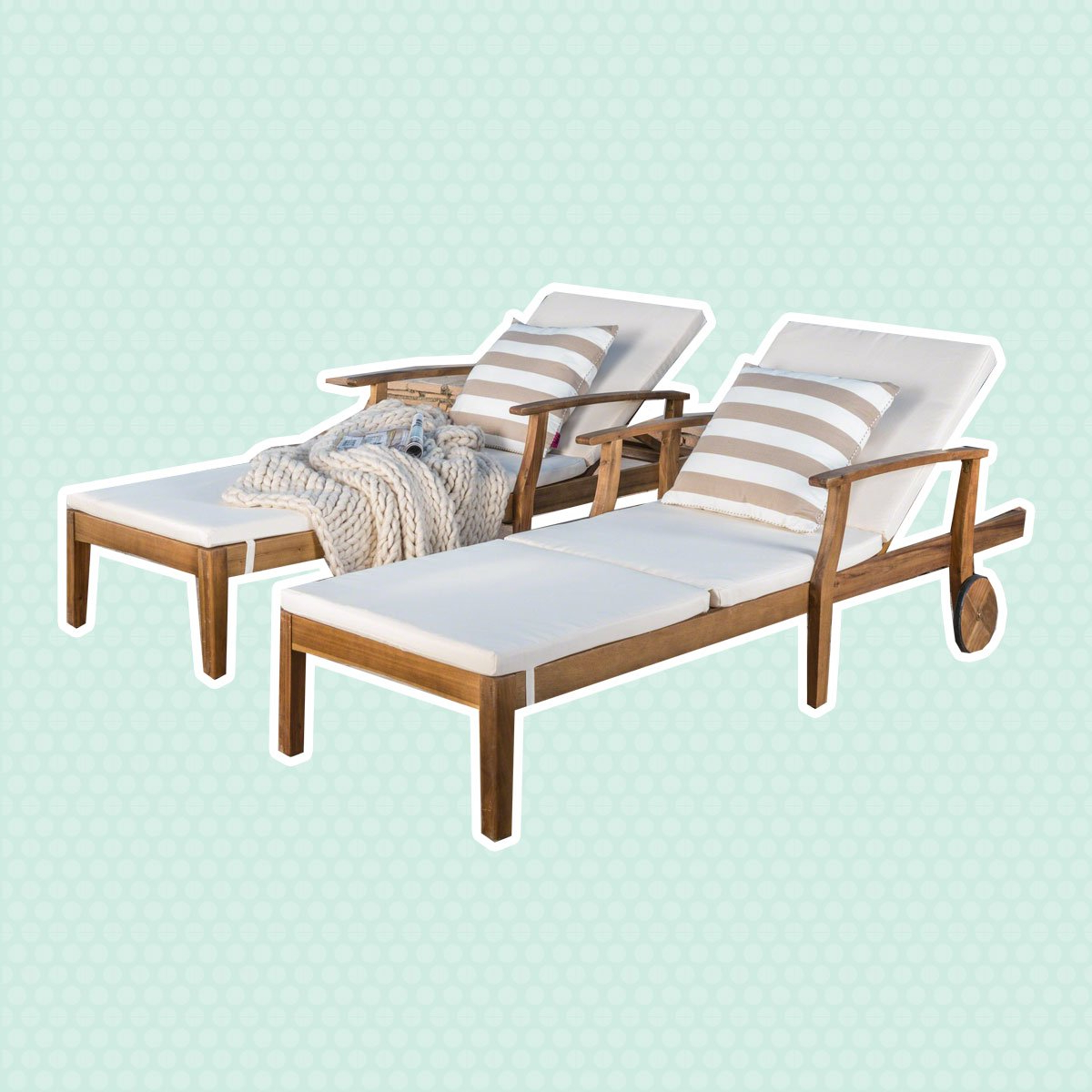 Taste Of Home For Perla Outdoor Acacia Wood Chaise Lounge With Cushion (View 22 of 25)
