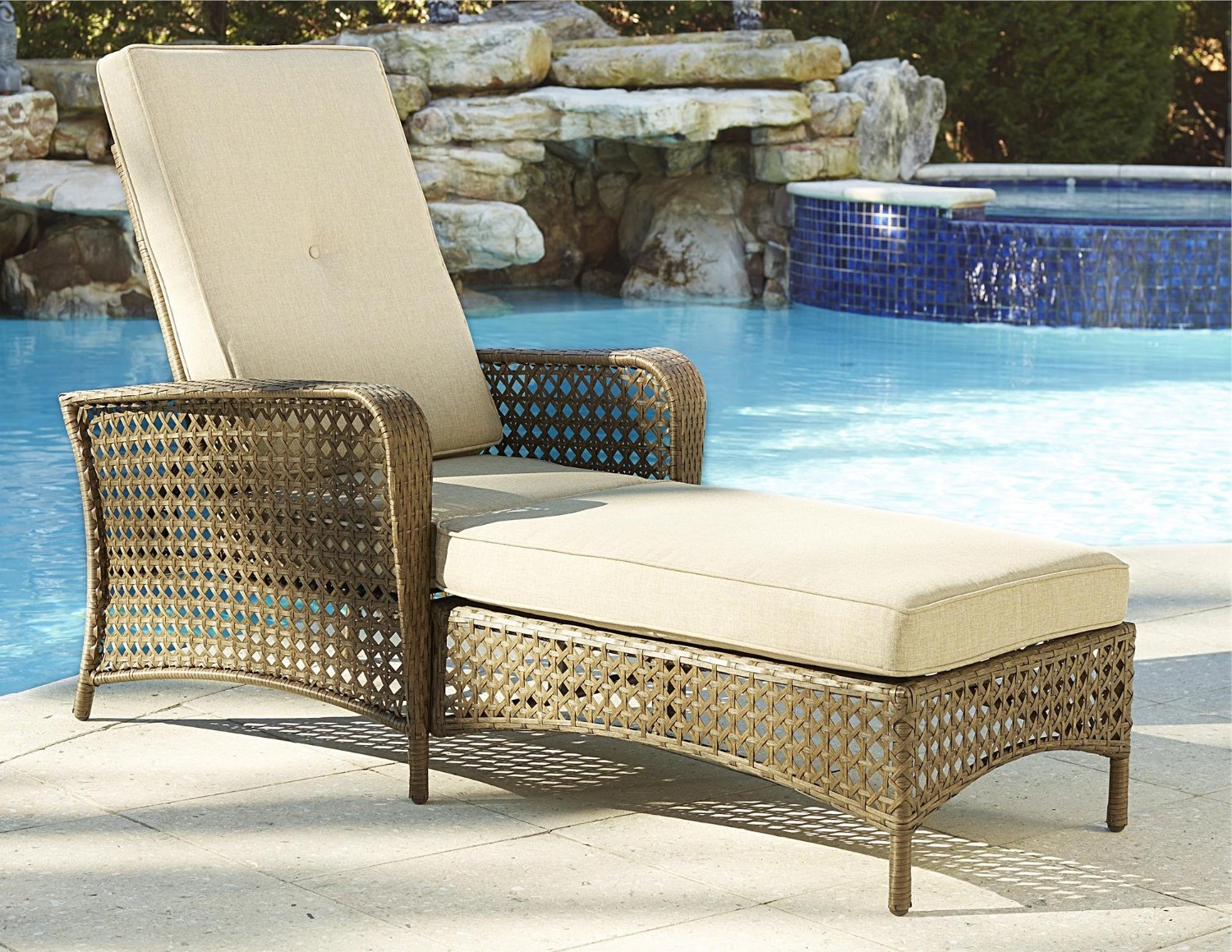 Trendy Buy Cosco Outdoor Chaise Lounge, Adjustable, Amber Wicker Pertaining To Cosco Outdoor Aluminum Chaise Lounge Chairs (View 9 of 25)