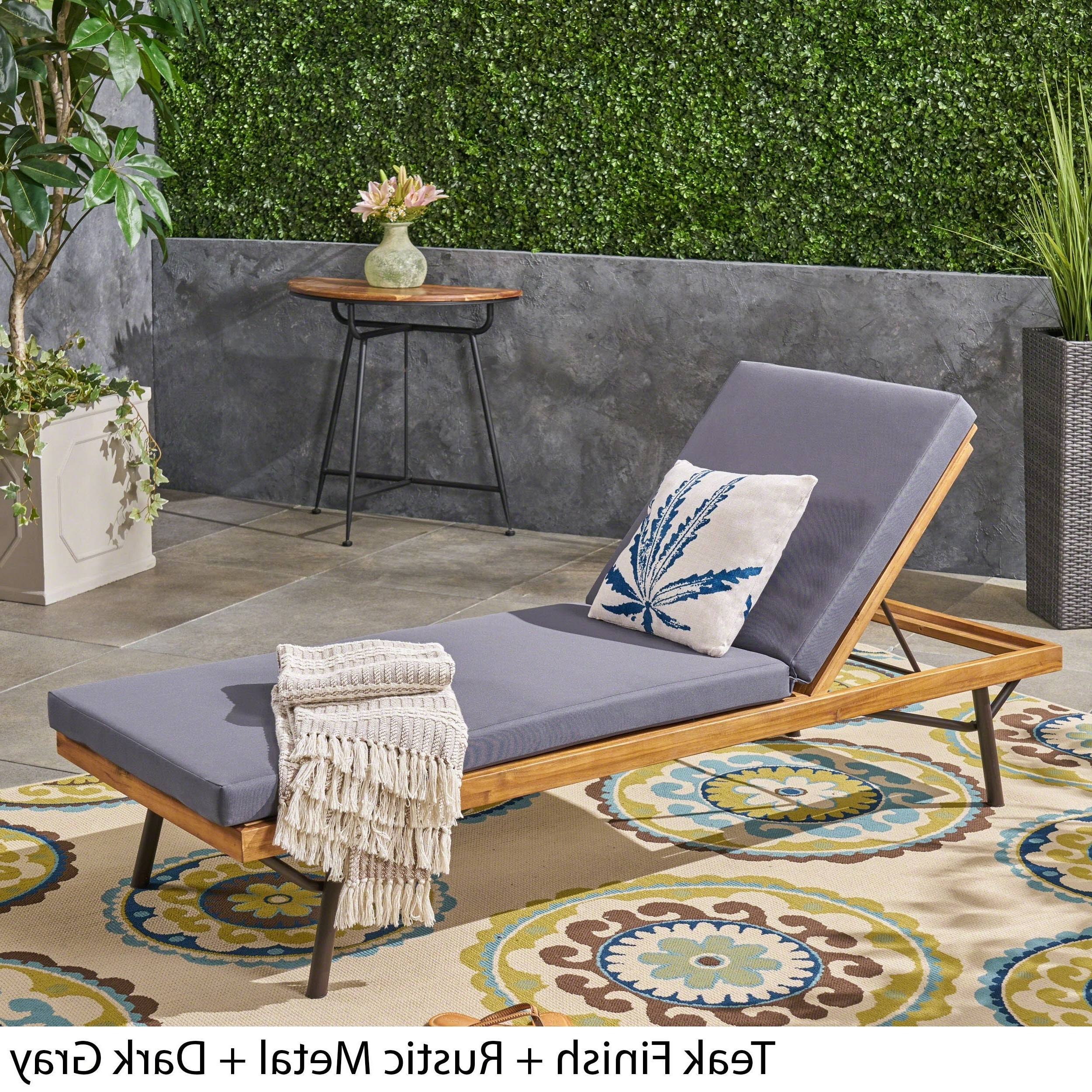 Trendy Canoga Outdoor Acacia And Eucalyptus Chaise Loungechristopher Knight Home Regarding Eucalyptus Teak Finish Outdoor Chaise Loungers With Cushion (View 25 of 25)