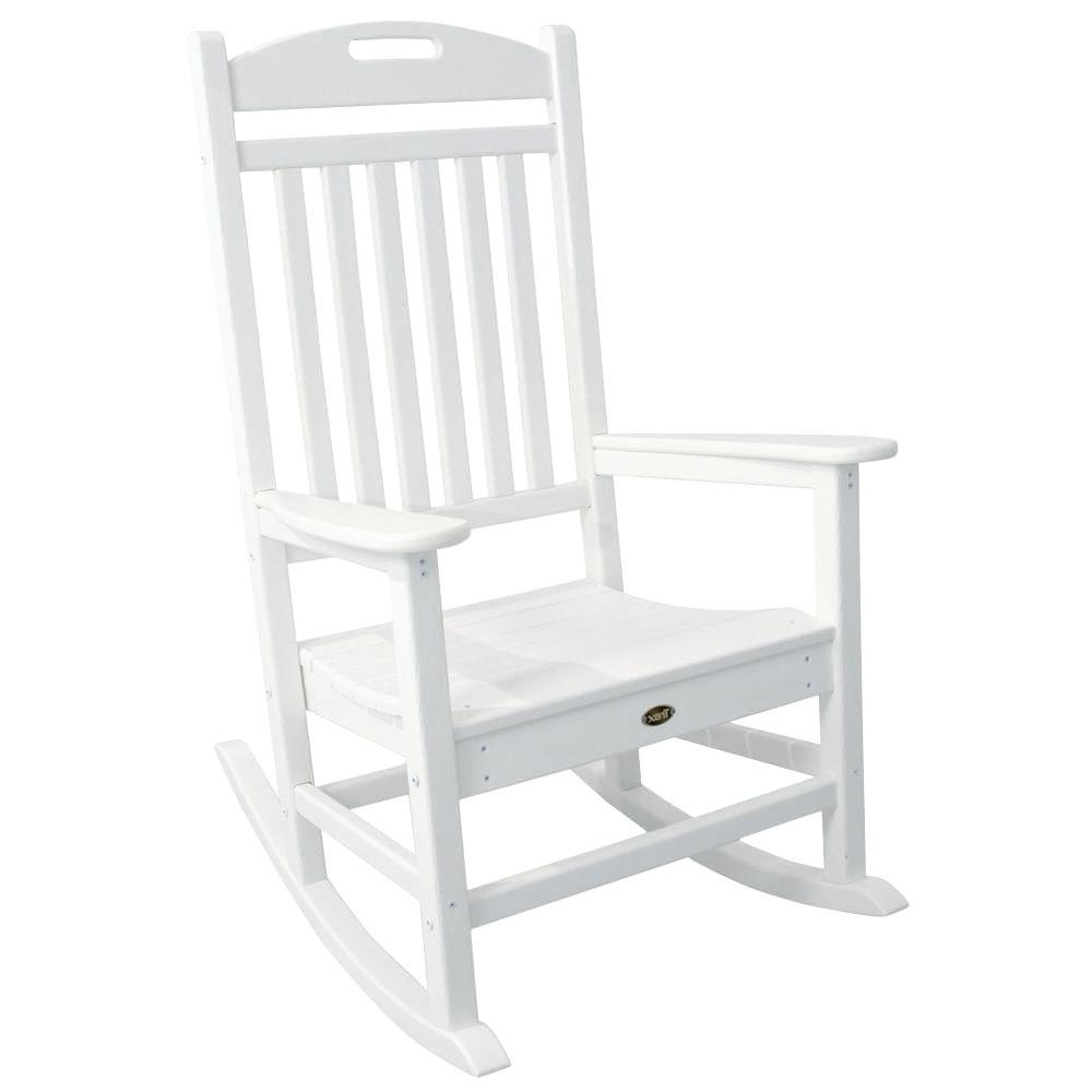 Trendy Details About Outdoor Patio Rocker Garden Chair Seat Lounger Rocking  Furniture Lounge White Intended For Outdoor Rocking Loungers (View 24 of 25)