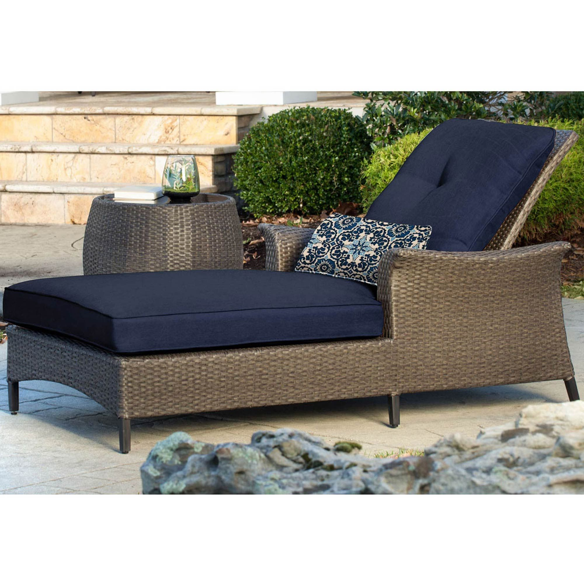 Trendy Instantly Create A Sophisticated Outdoor Space With The For 2 Piece Outdoor Wicker Chaise Lounge Chairs (View 23 of 25)