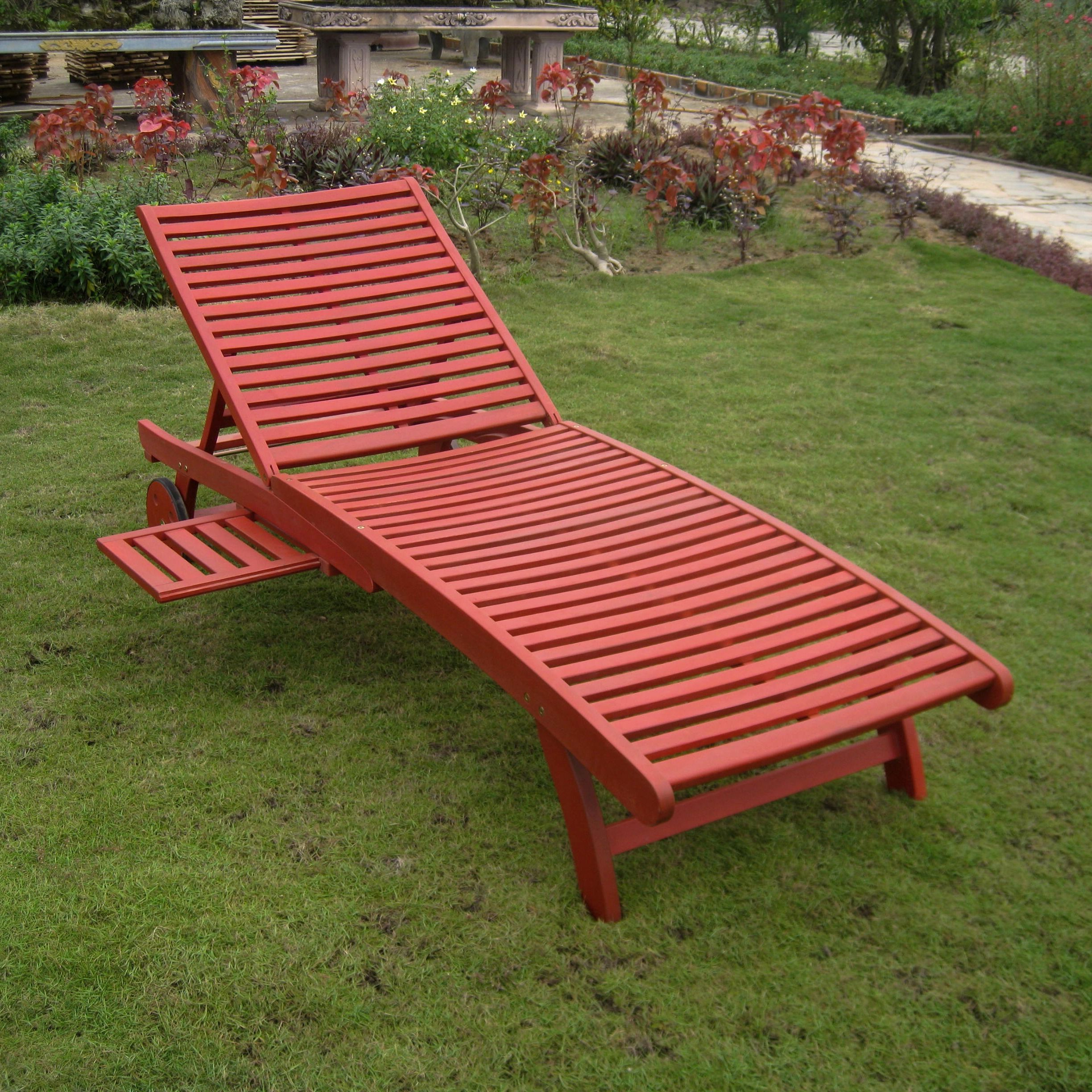 Trendy International Caravan Acacia Hardwood Multi Position Chaise Regarding Outdoor Multi Position Chaise Lounges (View 23 of 25)