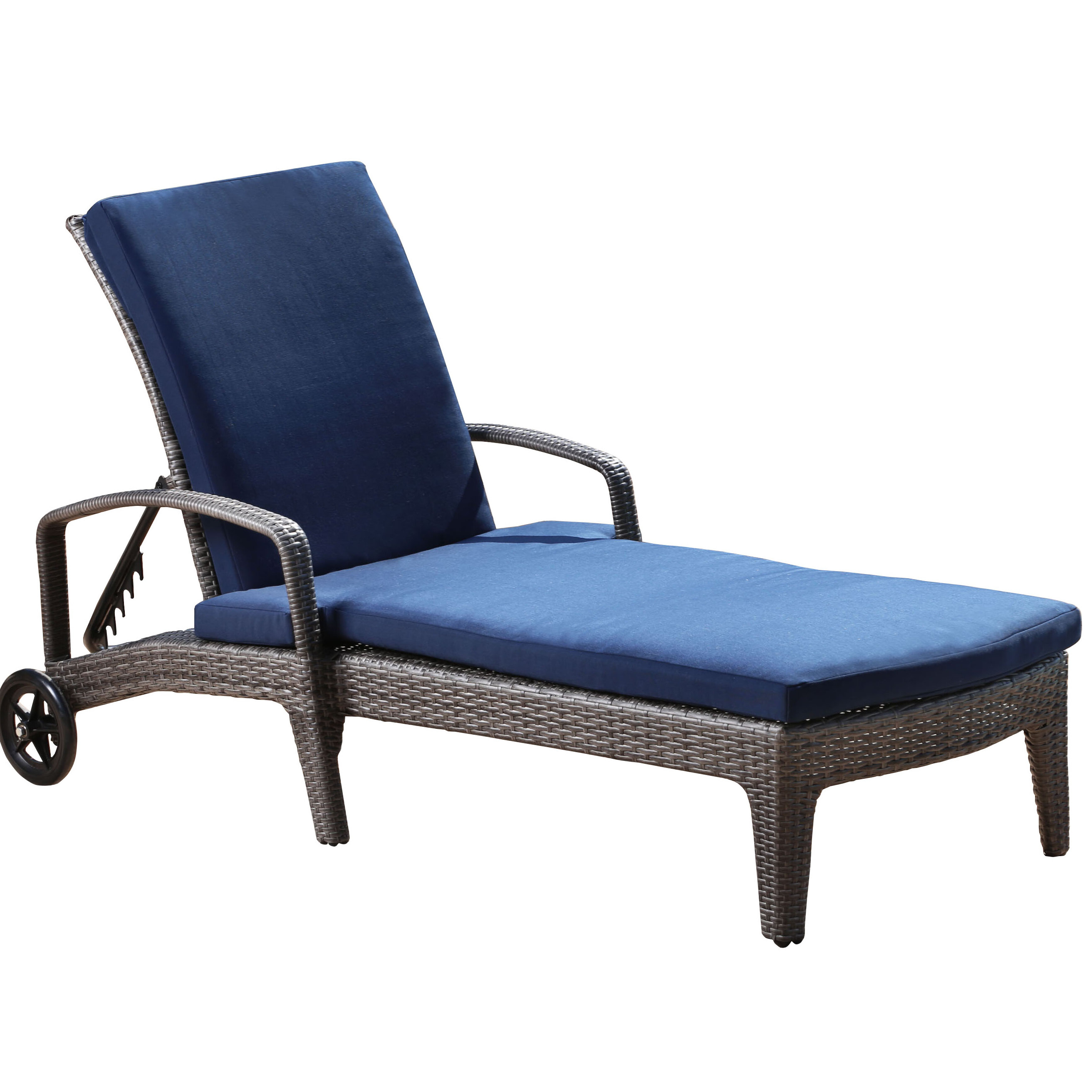 Trendy Ostrowski Outdoor Wicker Adjustable Reclining Chaise Lounge Within Outdoor Adjustable Reclining Wicker Chaise Lounges (View 21 of 25)