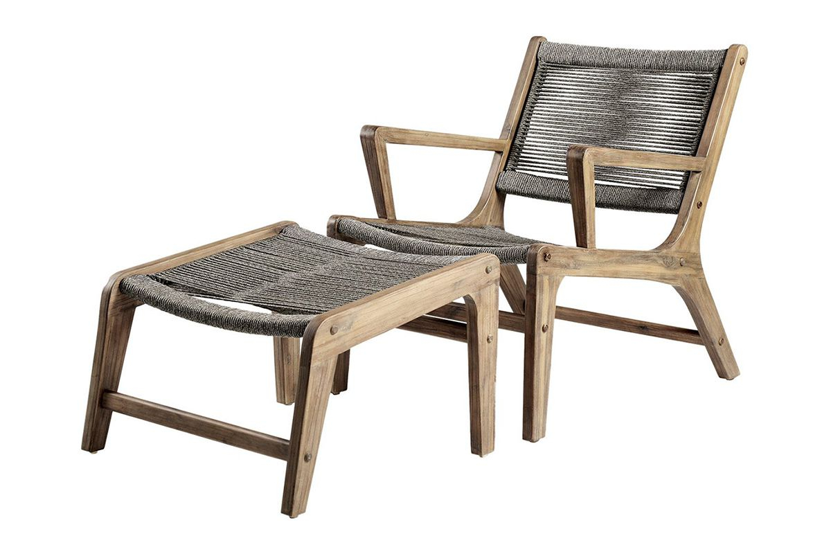 Trendy Outdoor Patio Lounge Chairs With Ottoman With Regard To Oceans Lounge Chair + Ottoman (set Of 2) (View 2 of 25)